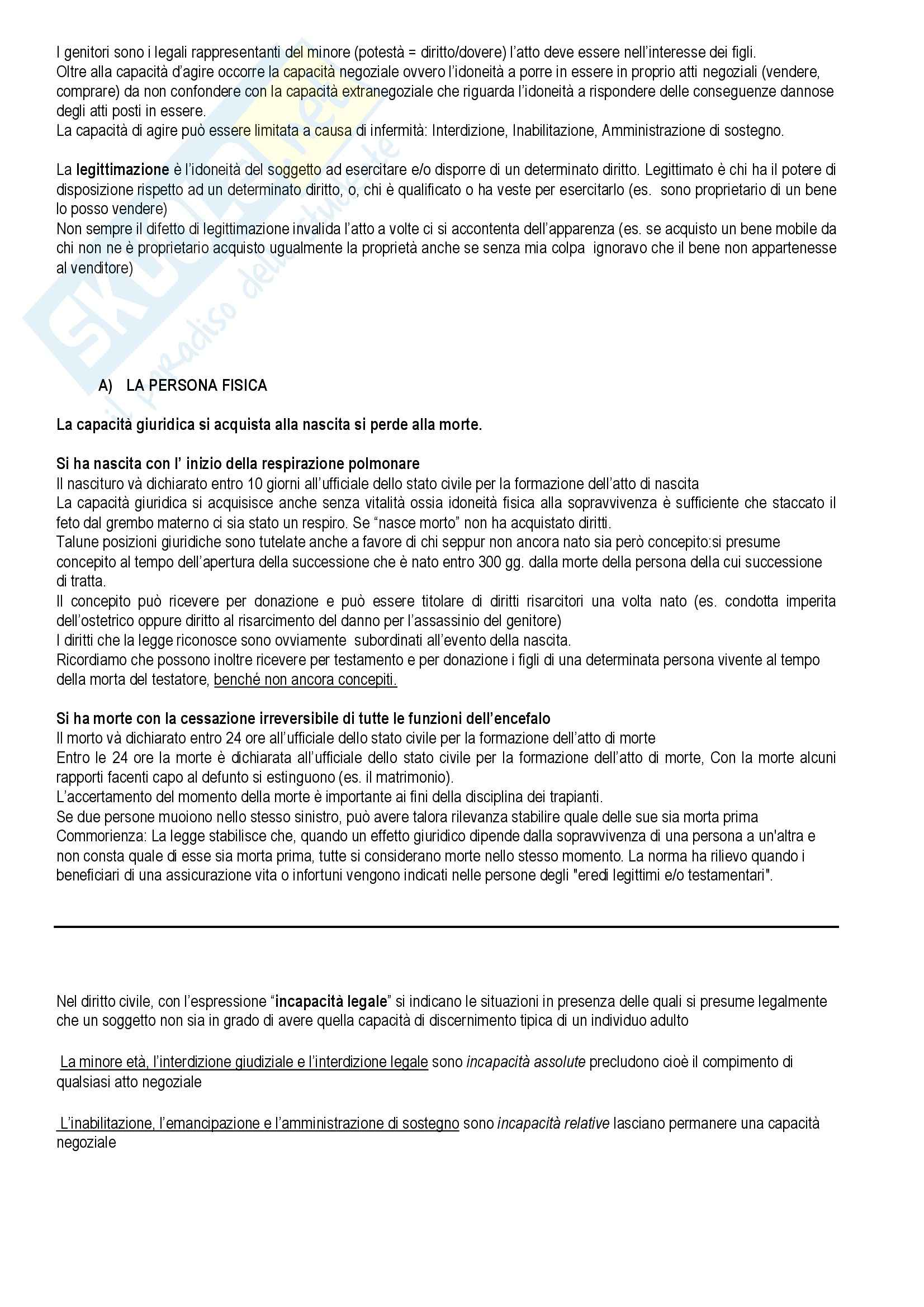 Diritto privato - Torrente e Schlesinger - Appunti Pag. 16