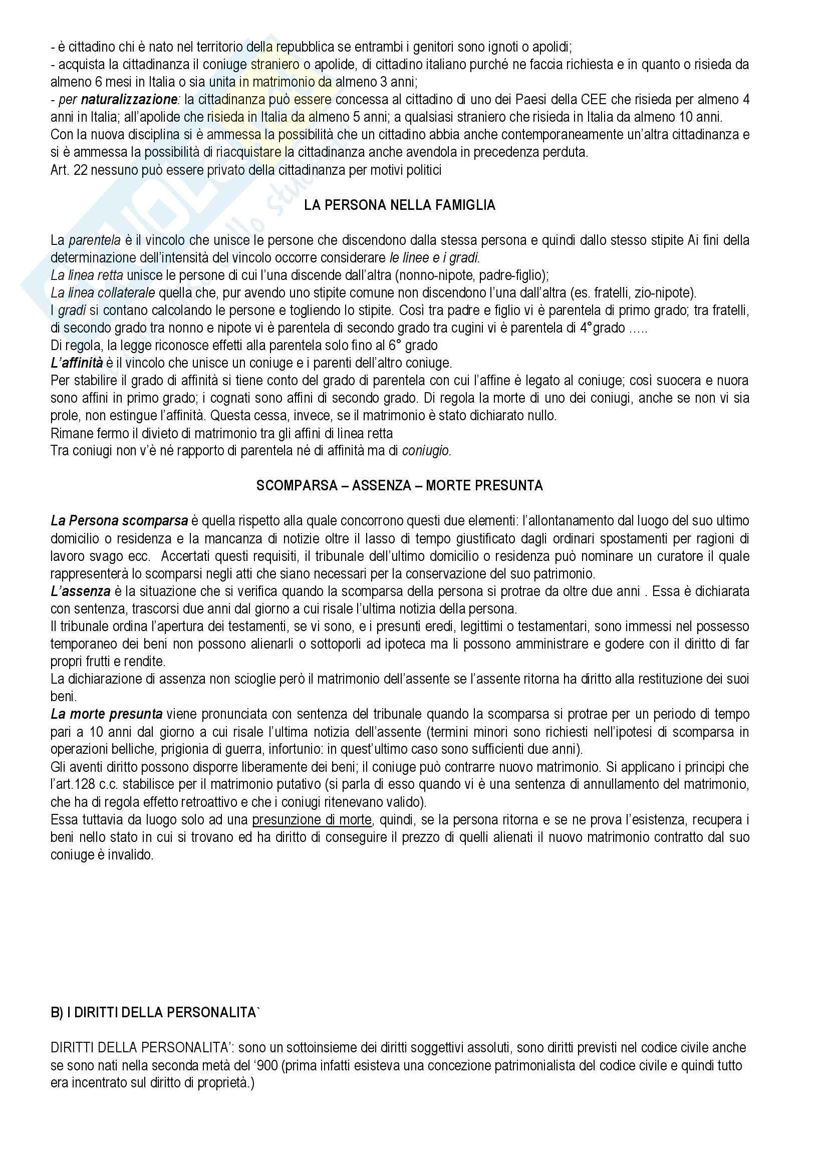 Diritto privato - Torrente e Schlesinger - Appunti Pag. 21