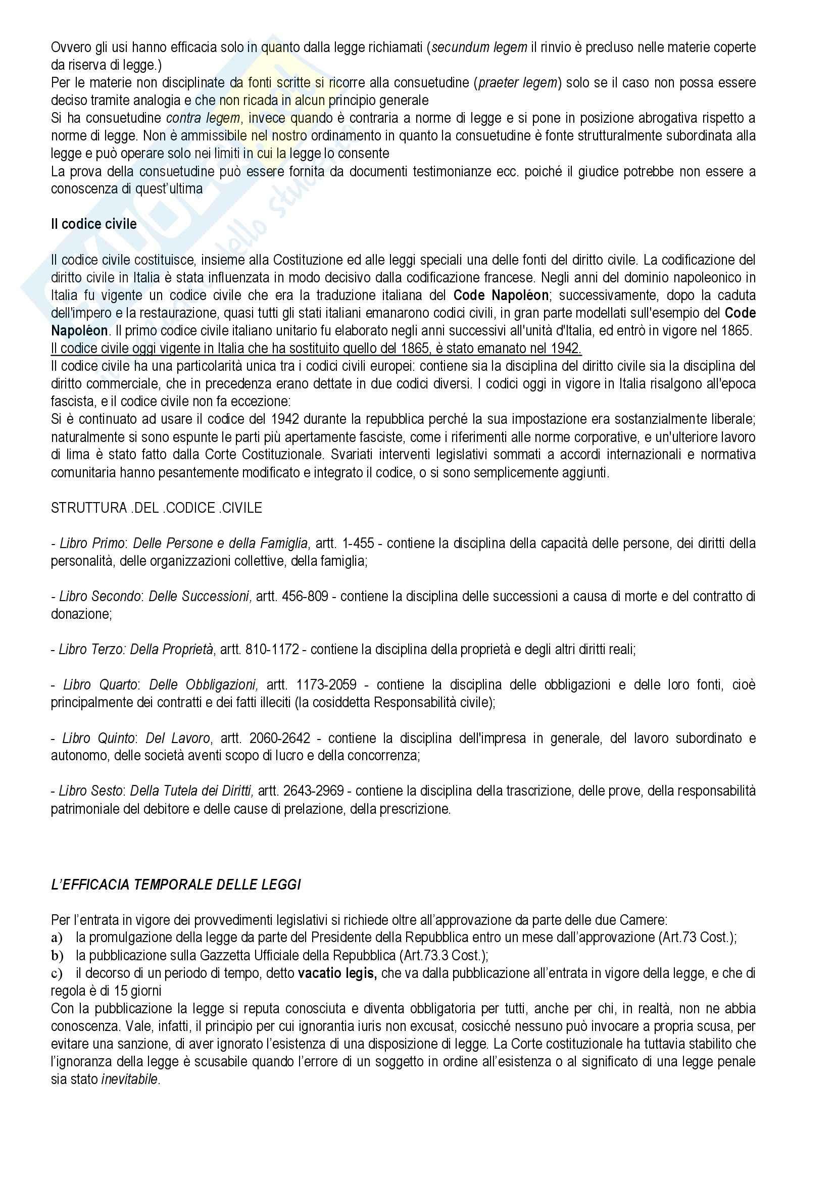 Diritto privato - Torrente e Schlesinger - Appunti Pag. 6