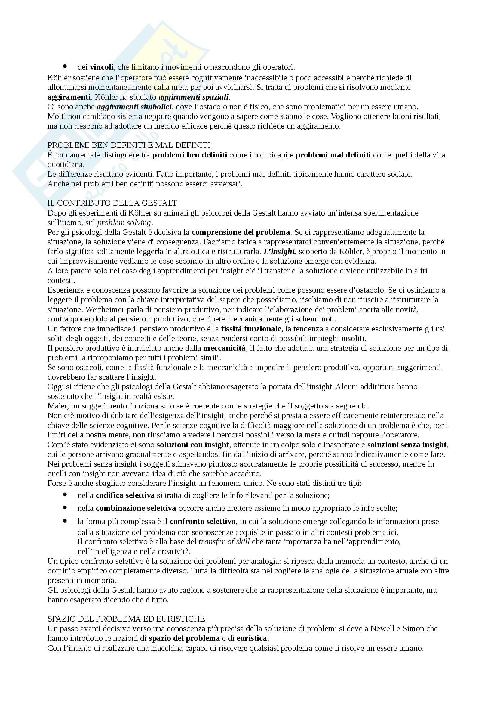 Sunto Linguaggio e comunicazione, docente Colombo, libro consigliato Psicologia della comunicazione, Di Giovanni, Parisio Pag. 31