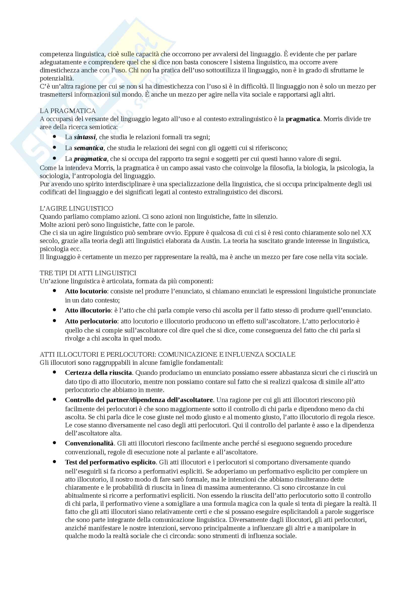 Sunto Linguaggio e comunicazione, docente Colombo, libro consigliato Psicologia della comunicazione, Di Giovanni, Parisio Pag. 56