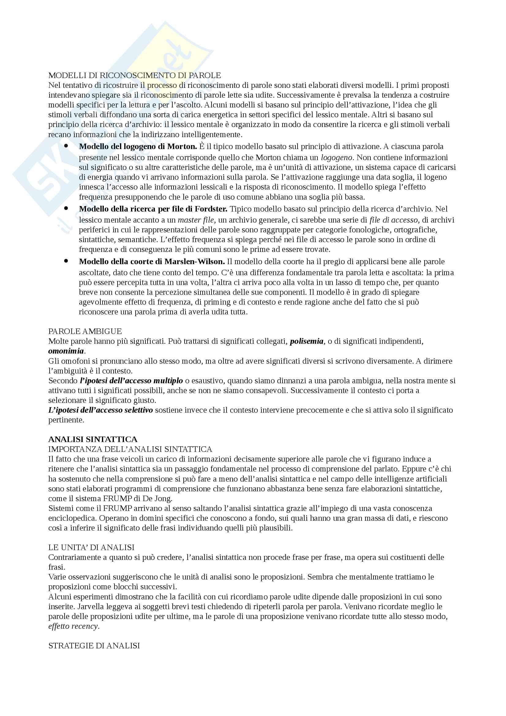 Sunto Linguaggio e comunicazione, docente Colombo, libro consigliato Psicologia della comunicazione, Di Giovanni, Parisio Pag. 66
