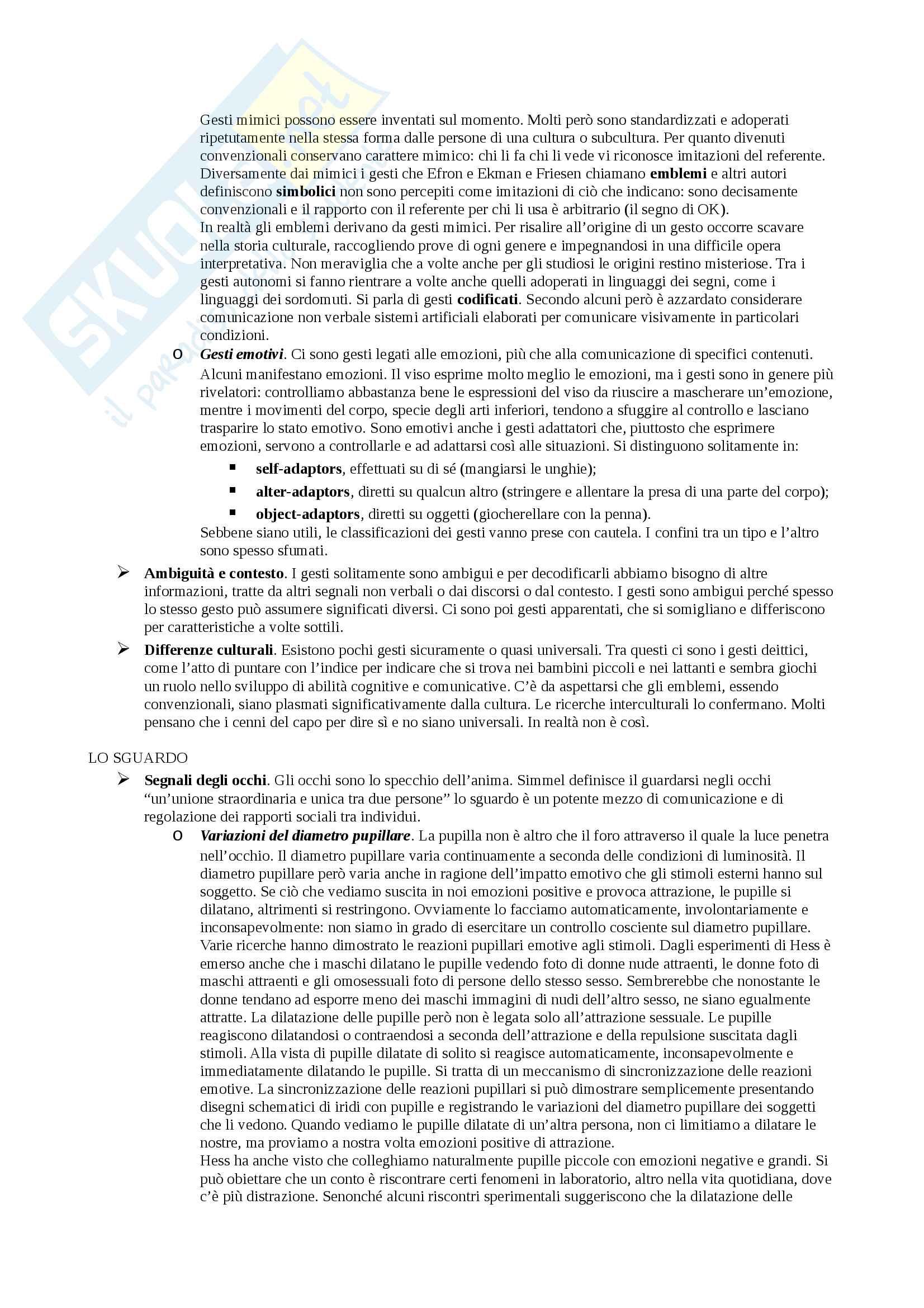 Sunto Linguaggio e comunicazione, docente Colombo, libro consigliato Psicologia della comunicazione, Di Giovanni, Parisio Pag. 76