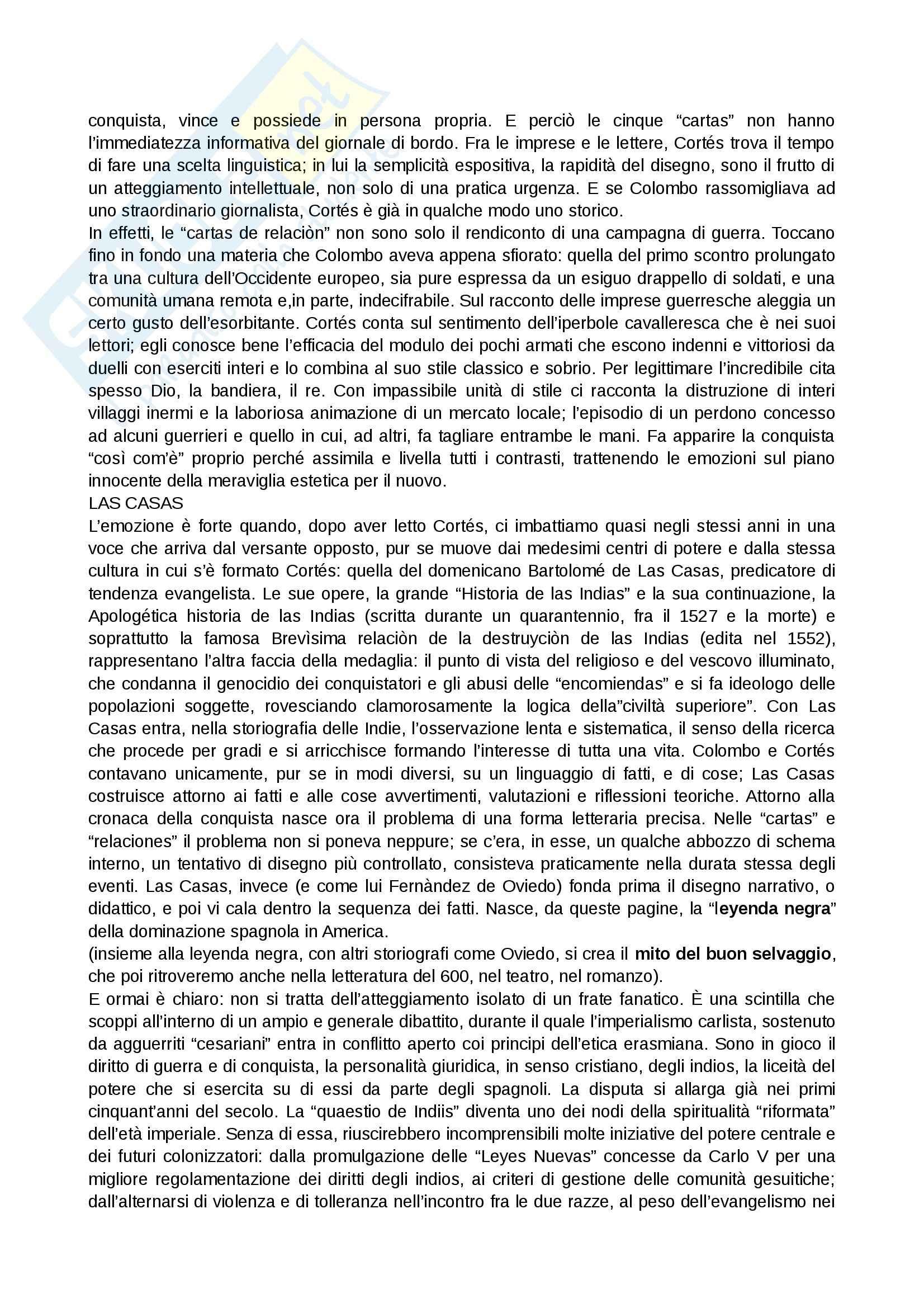 Riassunto esame Letteratura spagnola, prof. Cancelliere, libro consigliato La letteratura spagnola. I secoli d'oro, Simonà, Mancini Pag. 2