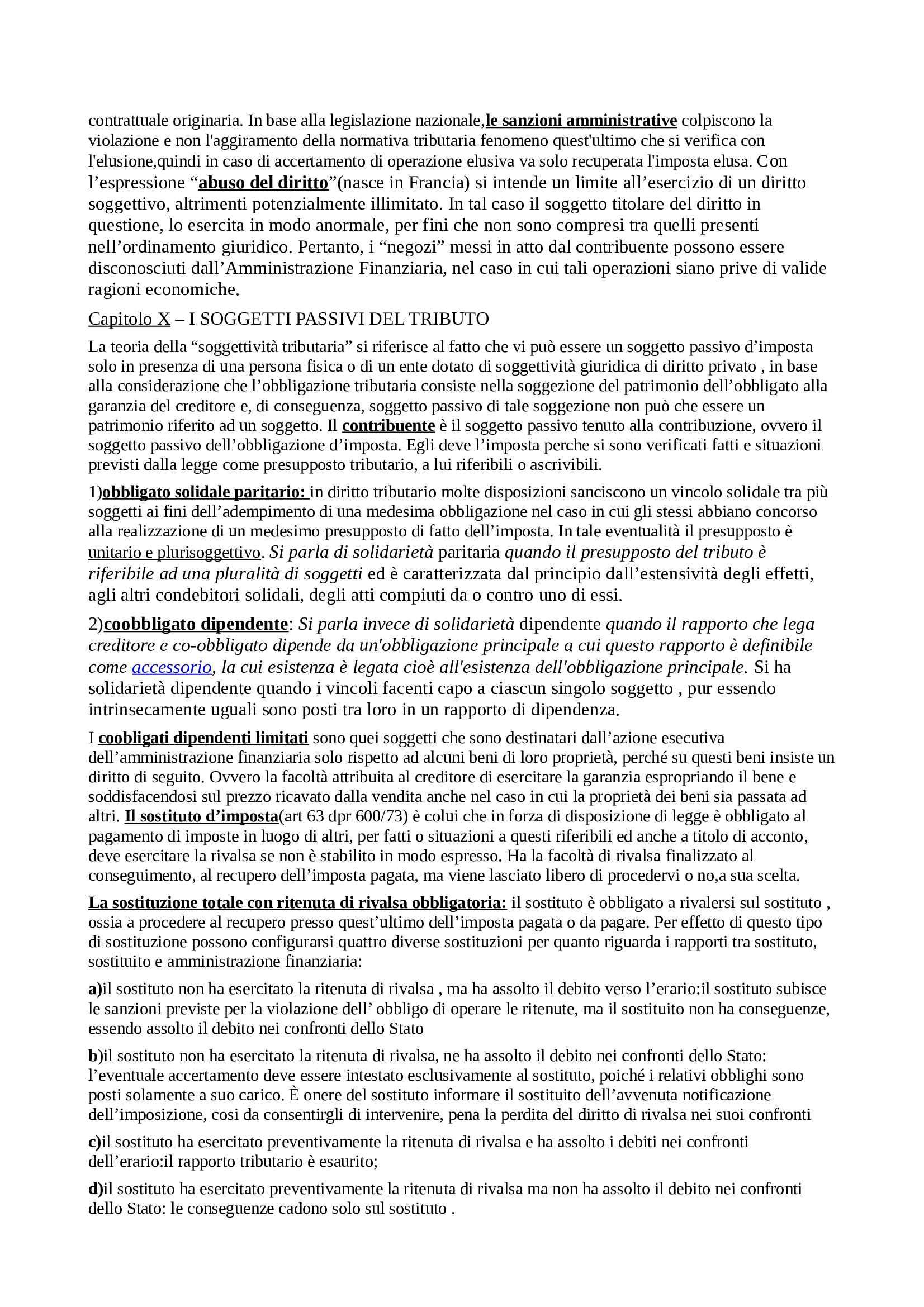 Riassunto esame Diritto Tributario, prof. Giovanardi, libro consigliato Manuale di Diritto Tributario, Falsitta Pag. 11
