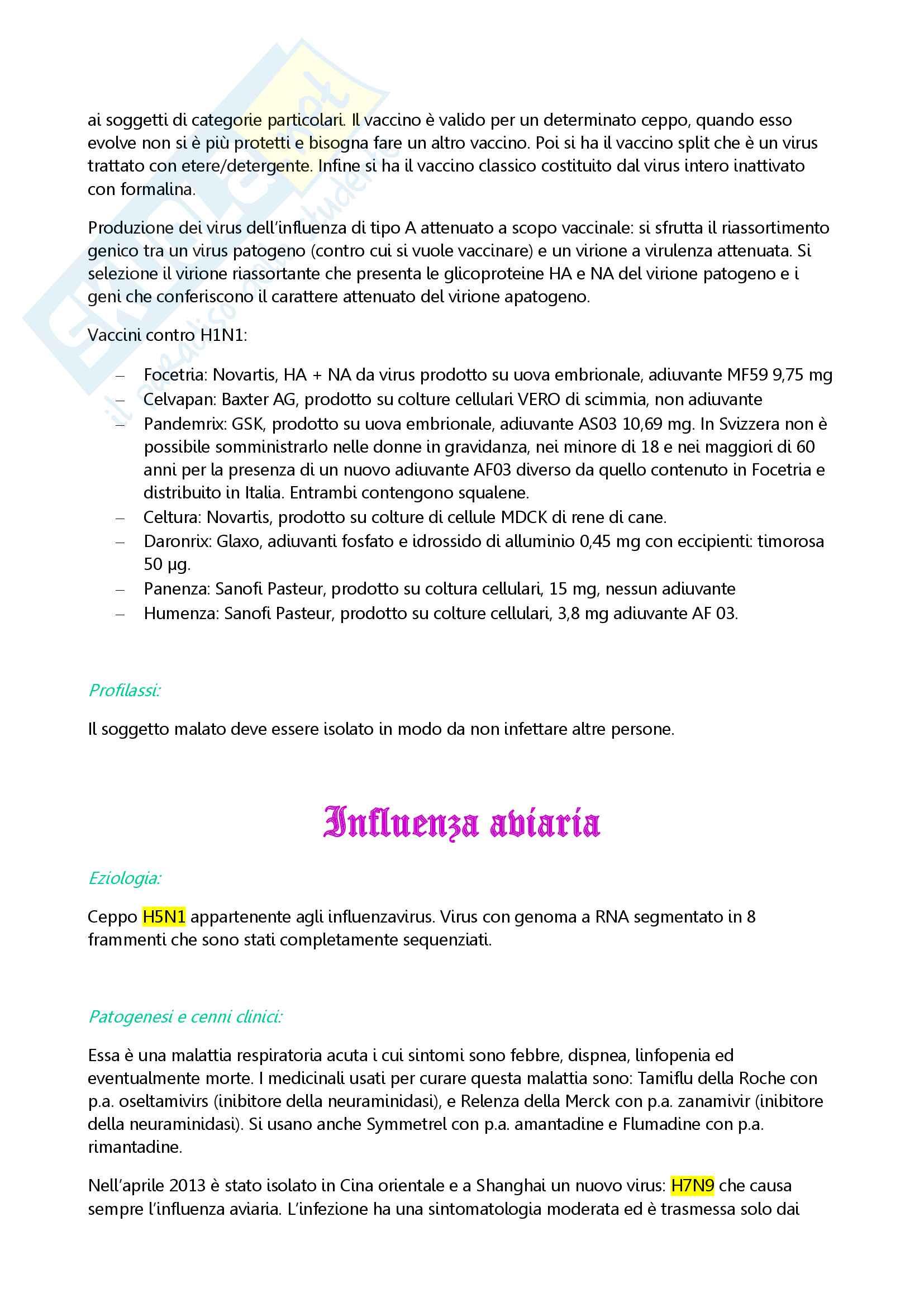 Le malattie infettive Pag. 11
