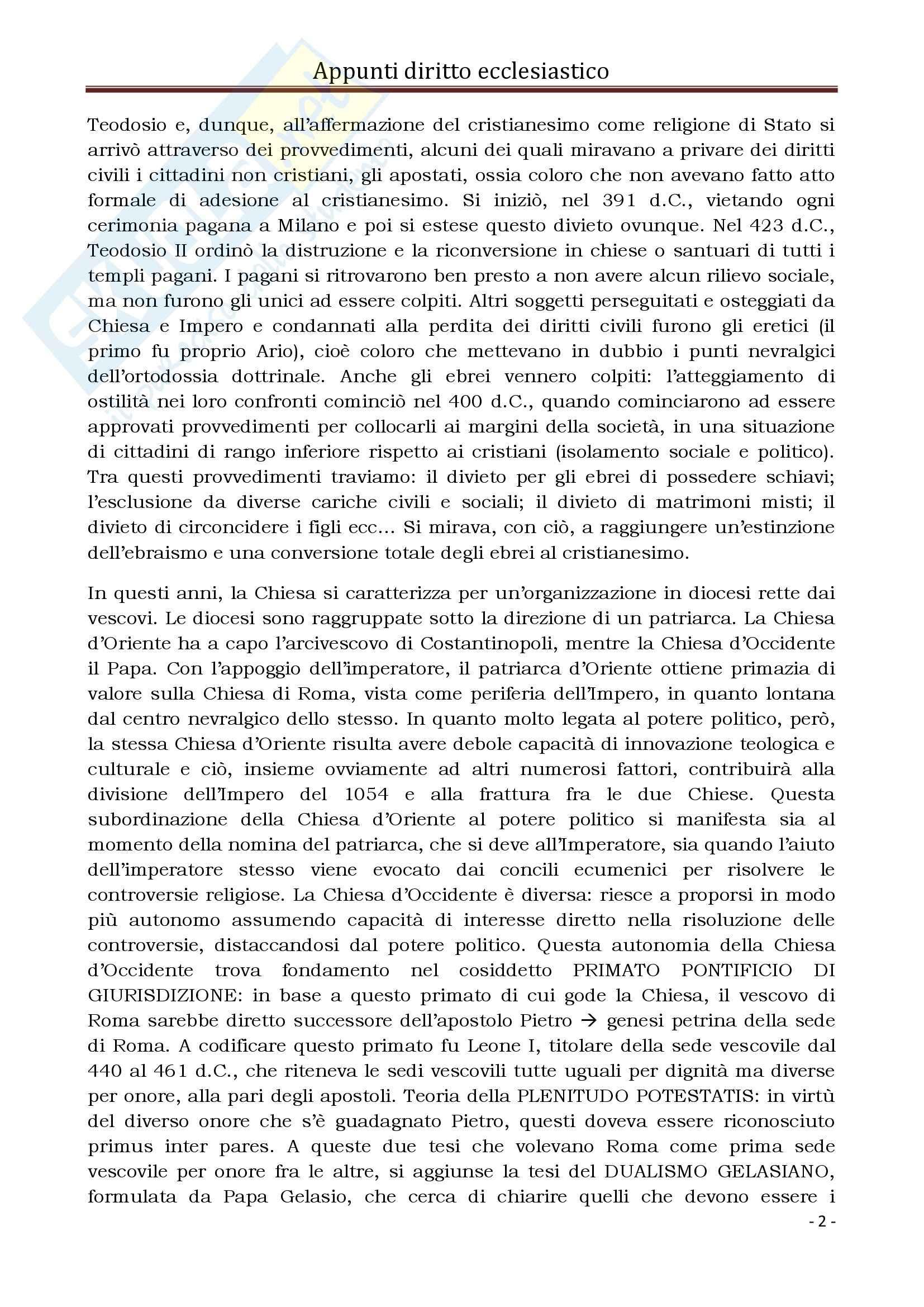 Diritto Ecclesiastico e Canonico - Corso completo Pag. 2