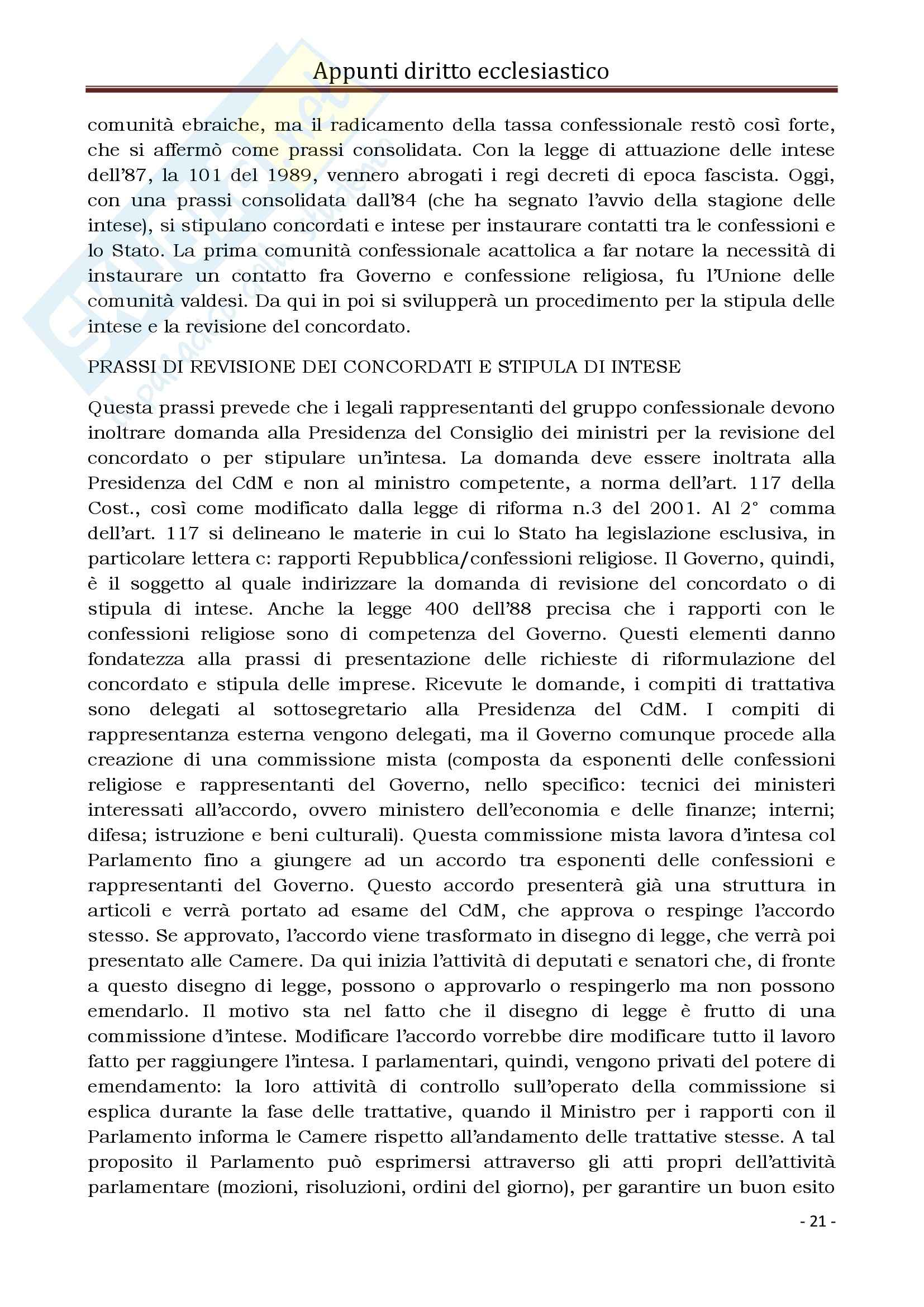 Diritto Ecclesiastico e Canonico - Corso completo Pag. 21