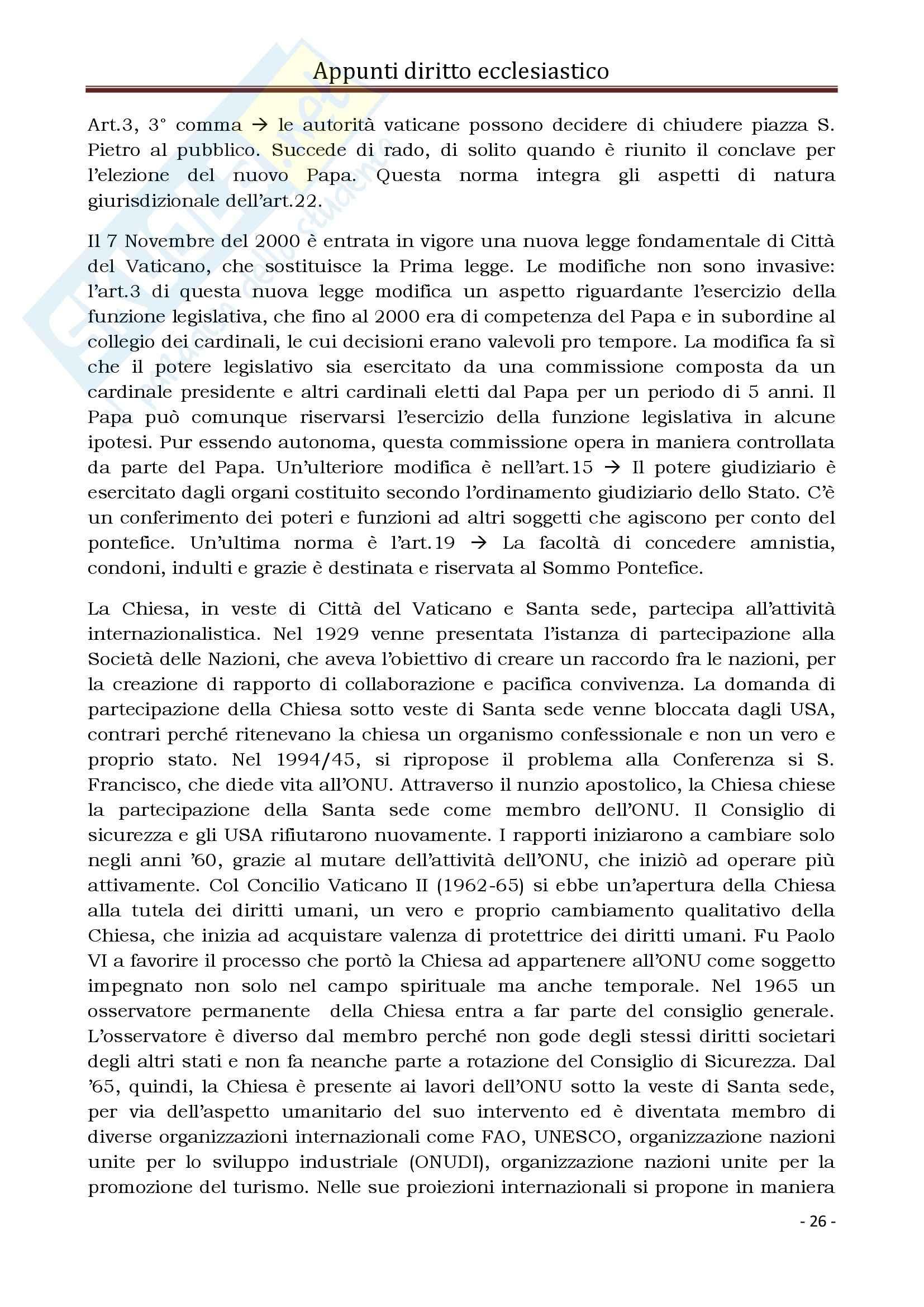 Diritto Ecclesiastico e Canonico - Corso completo Pag. 26