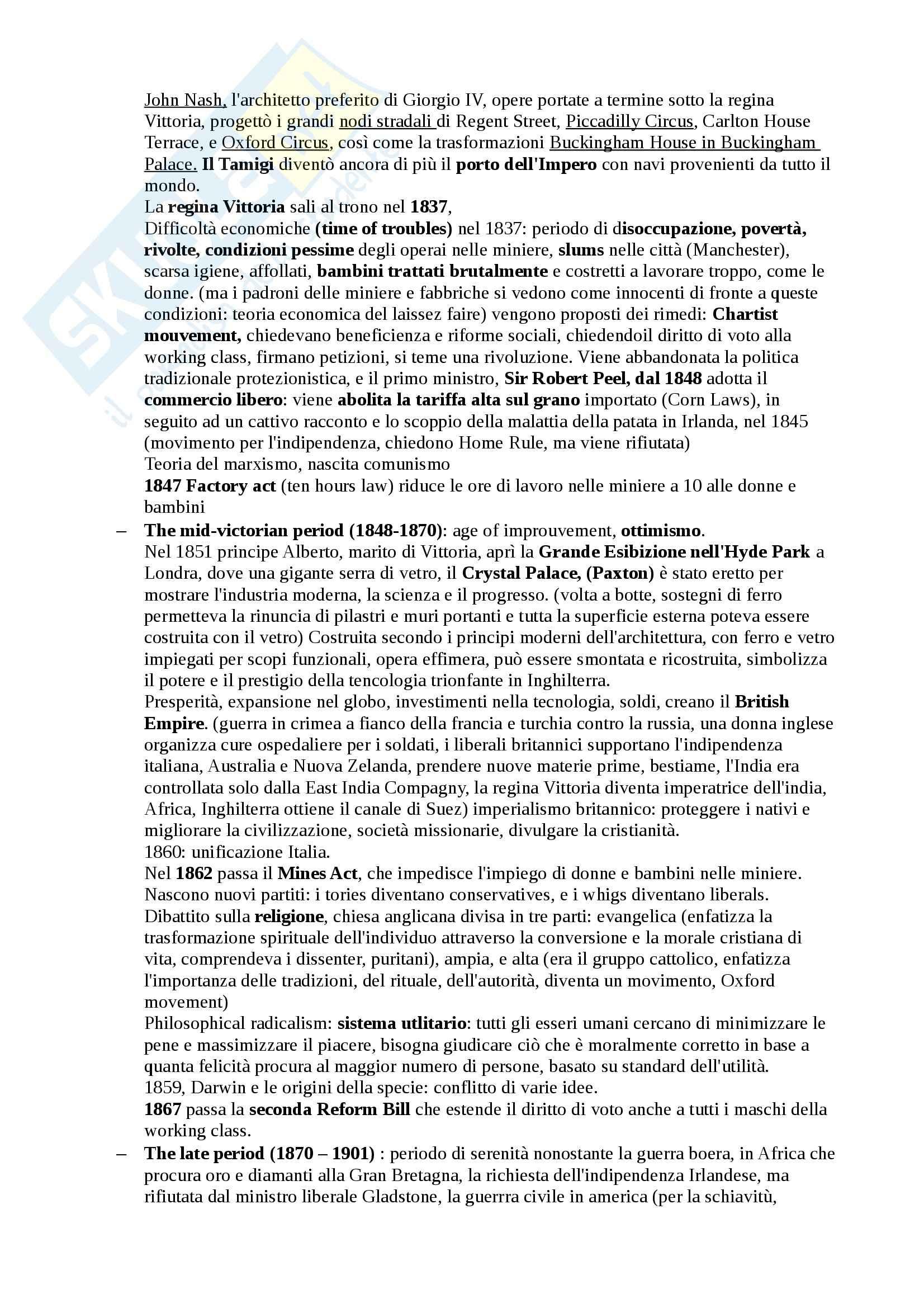 Letteratura Inglese 2 - Appunti parte tre Pag. 2
