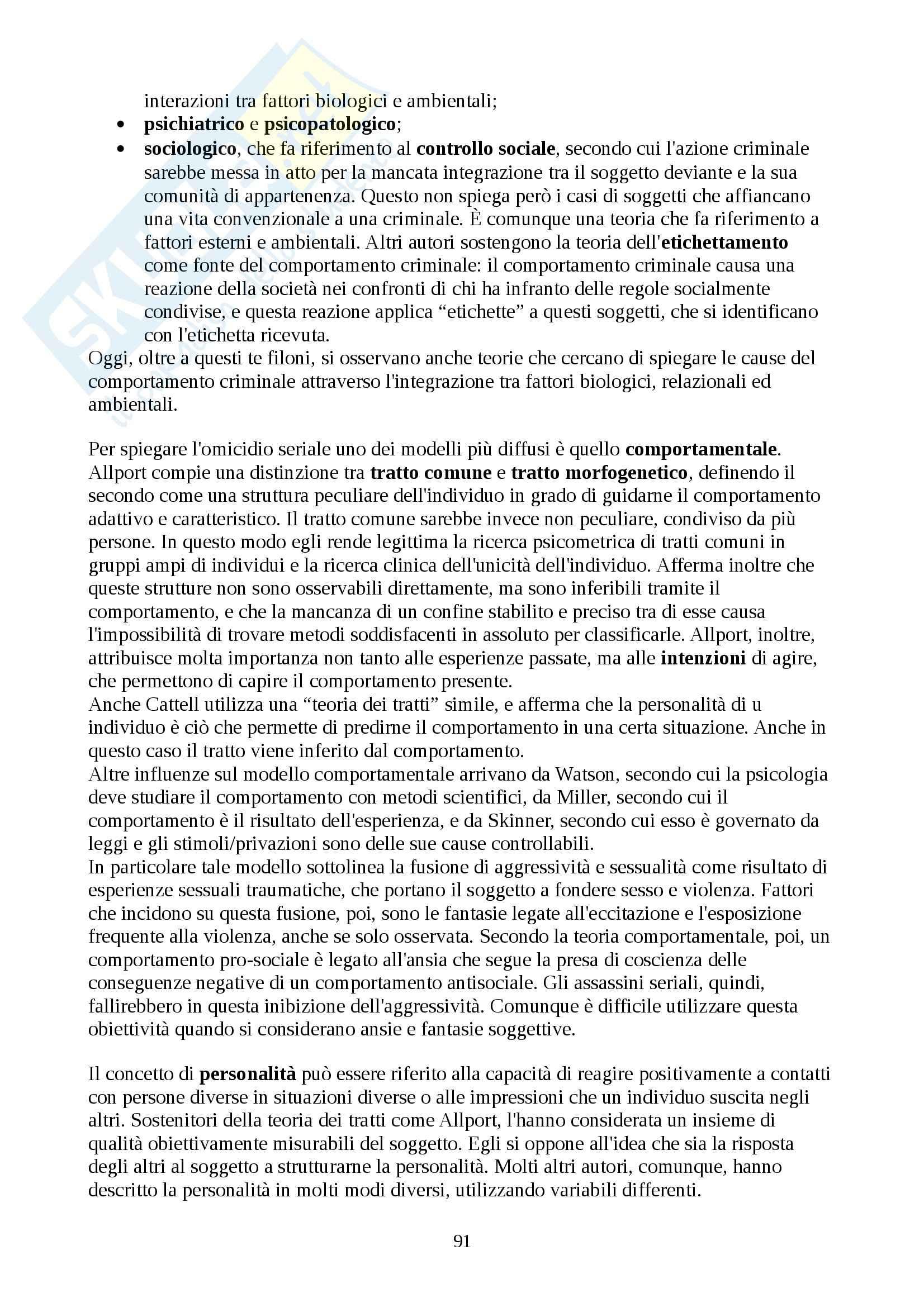 Psicologia giuridica - Appunti Pag. 91