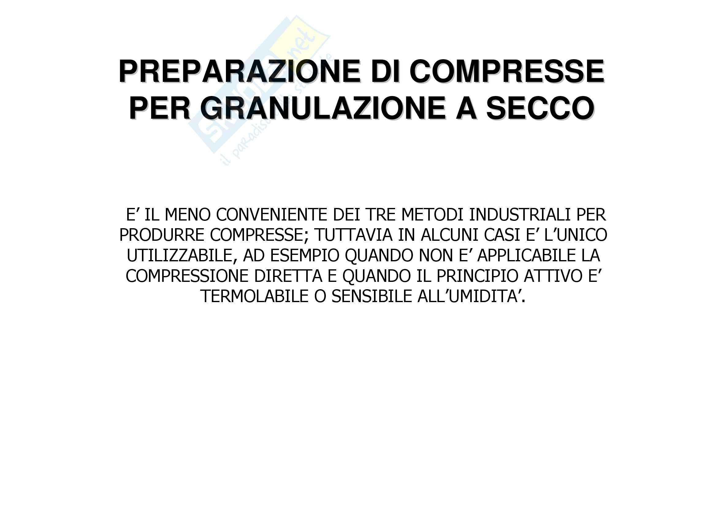 Tecnica farmaceutica - compressione e compresse Pag. 26