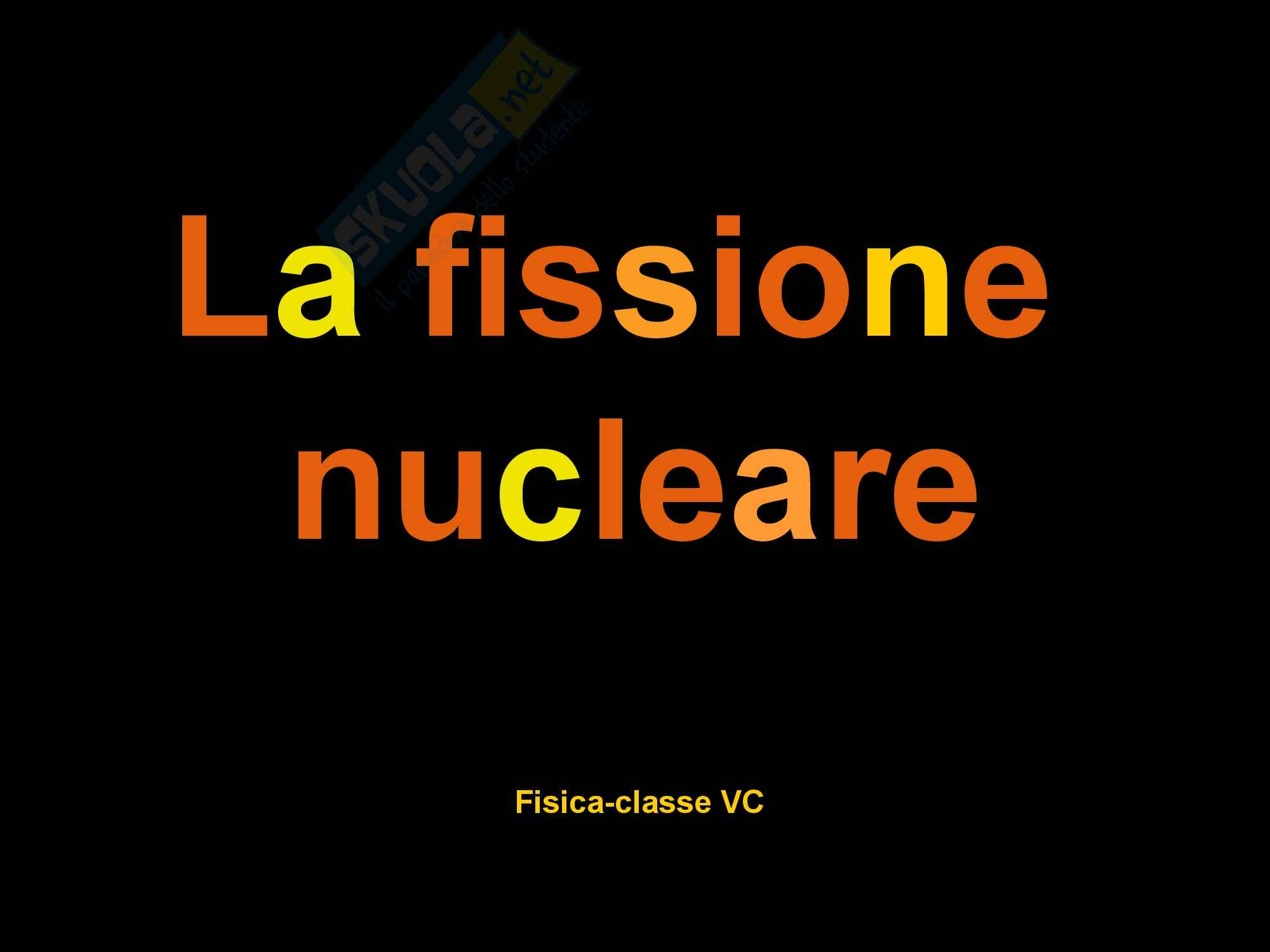 Fissione nucleare - Ricerca Pag. 1