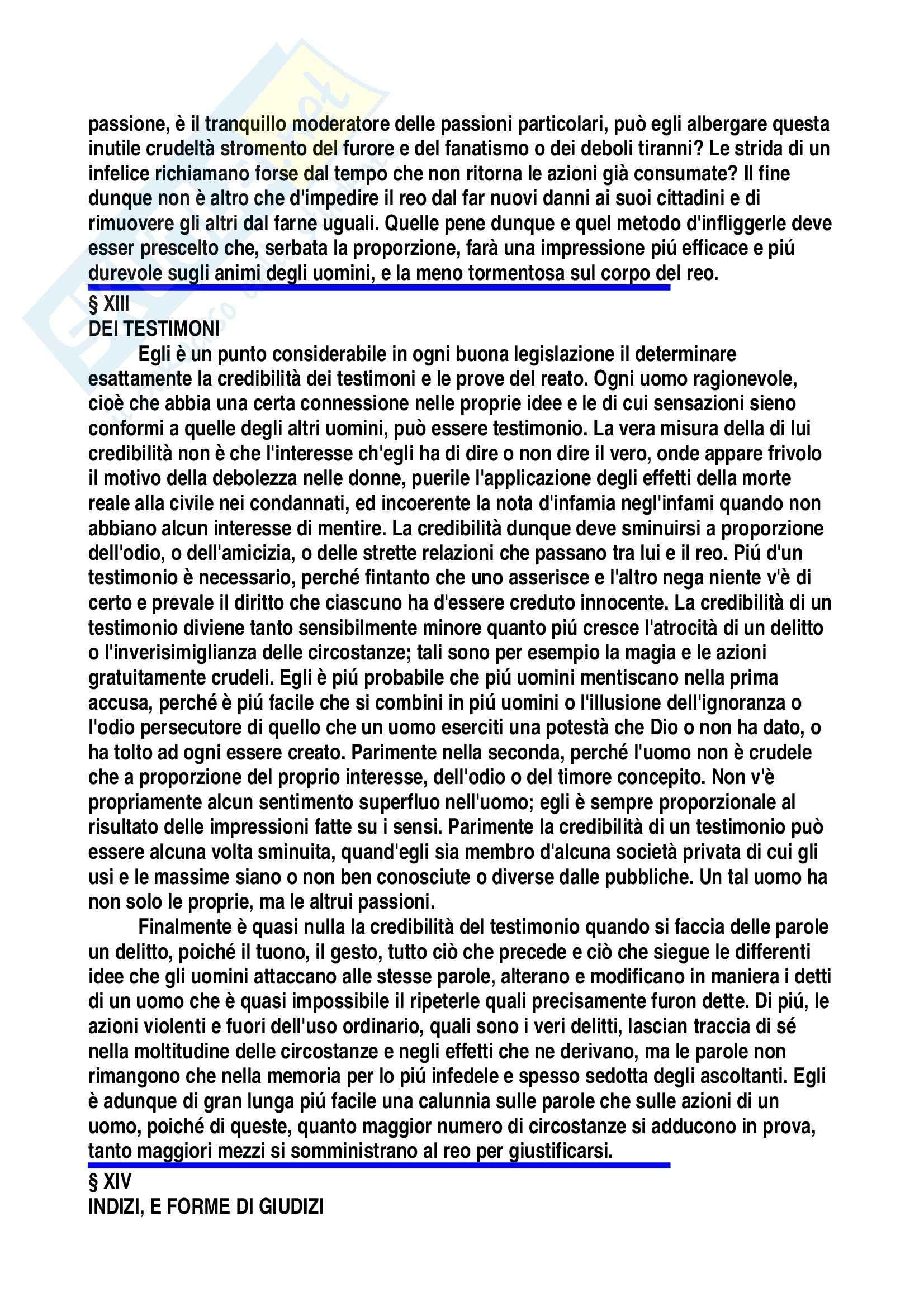 Diritto penale - Tesi su Cesare Beccaria Pag. 31