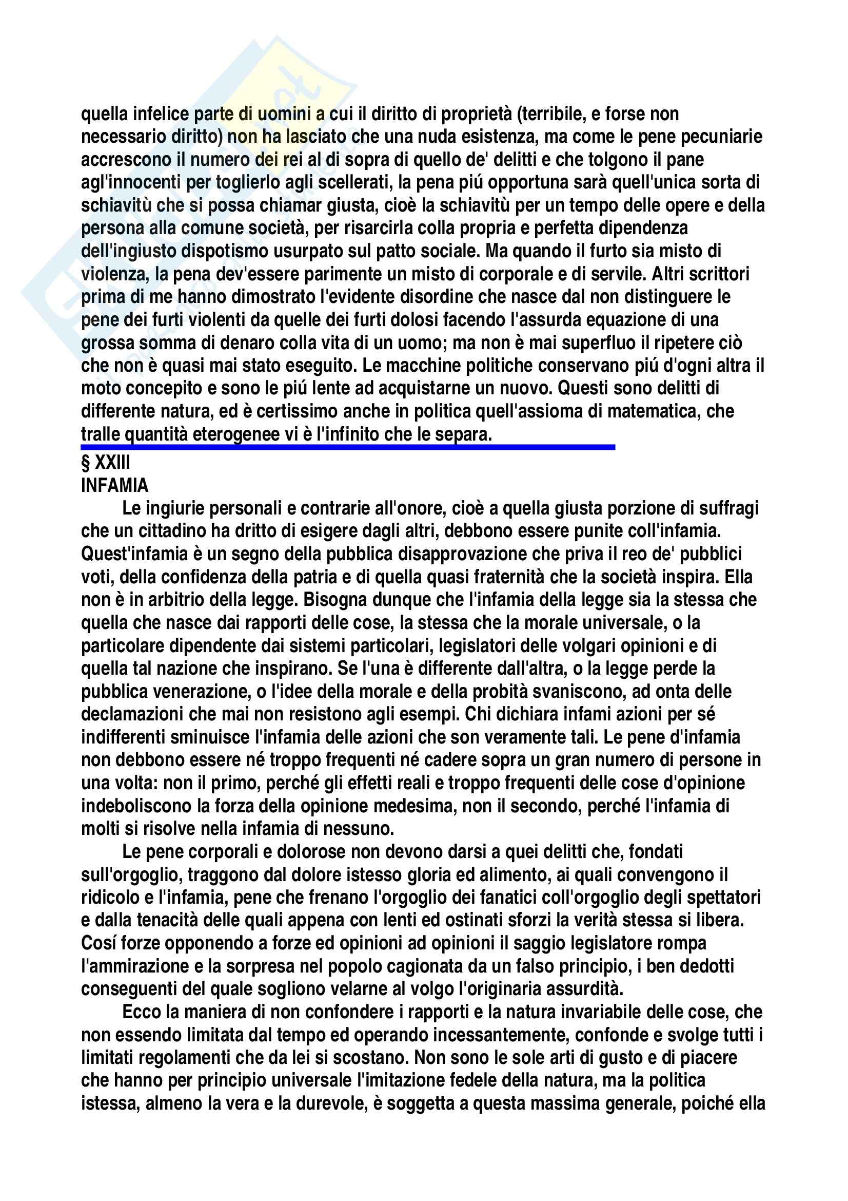 Diritto penale - Tesi su Cesare Beccaria Pag. 41
