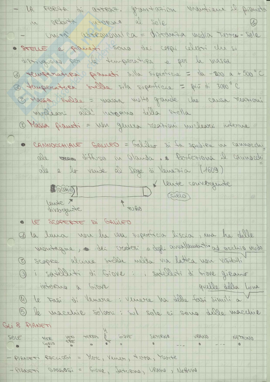 Riassunto esame Fisica, prof. Straulino, libro consigliato Lezioni di Astronomia, Straulino