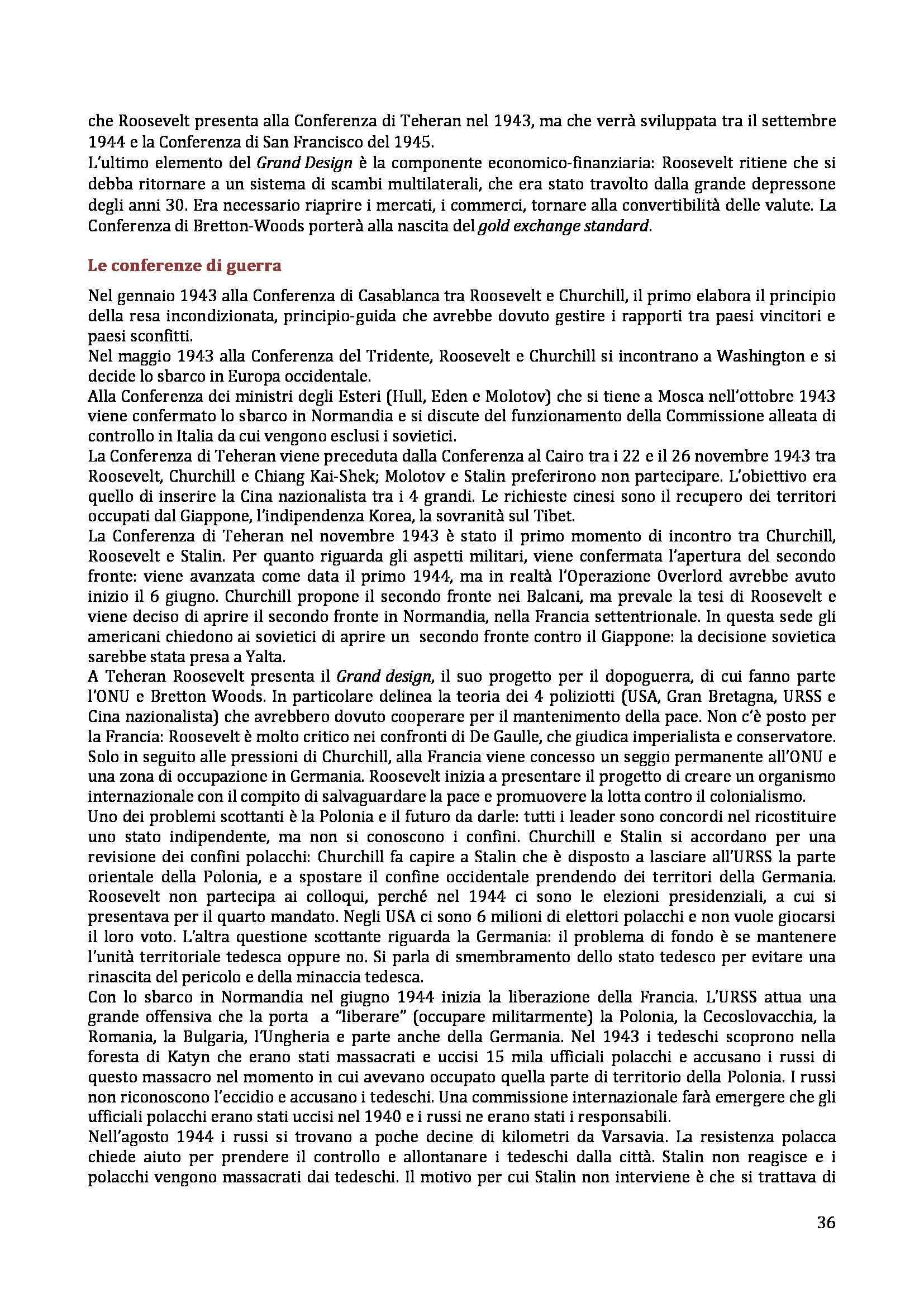 Storia delle relazioni internazionali - Appunti Pag. 36