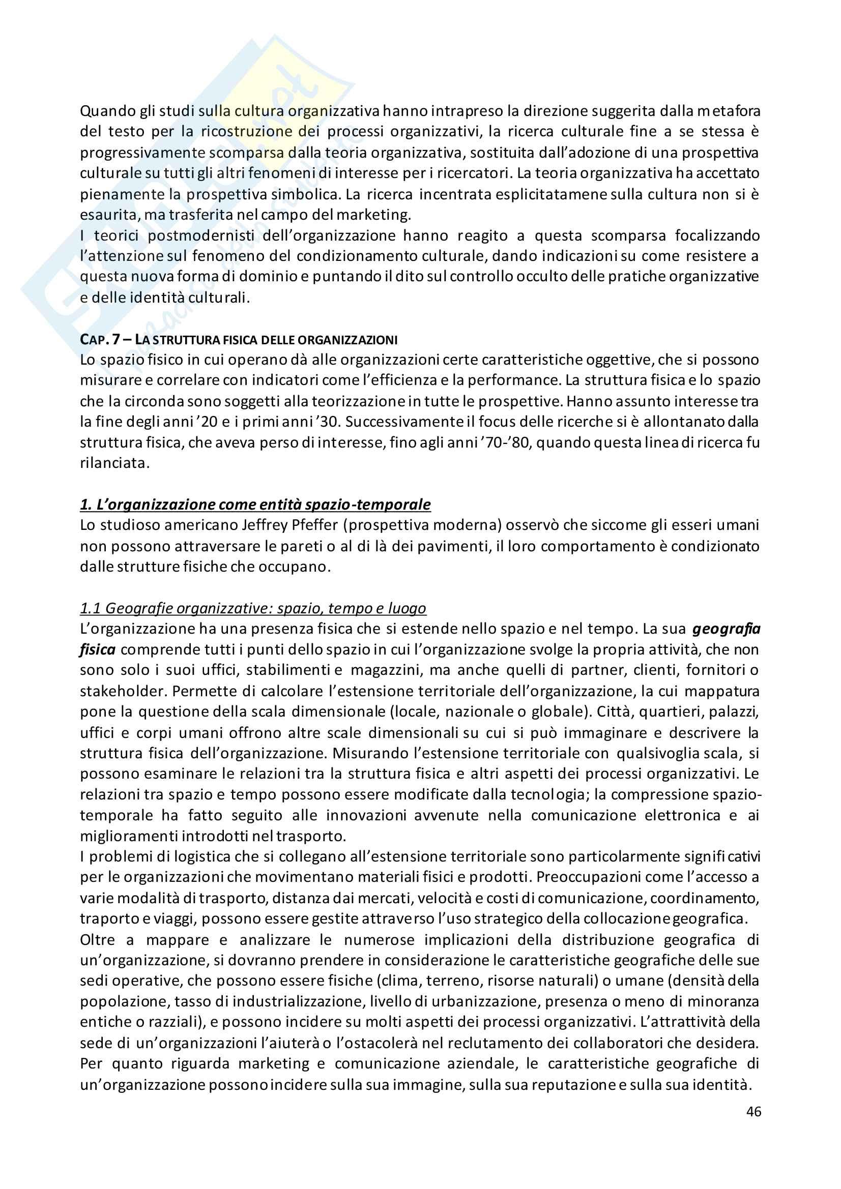 Teoria dell organizzazione - Sociologia Dell'Organizzazione Pag. 46