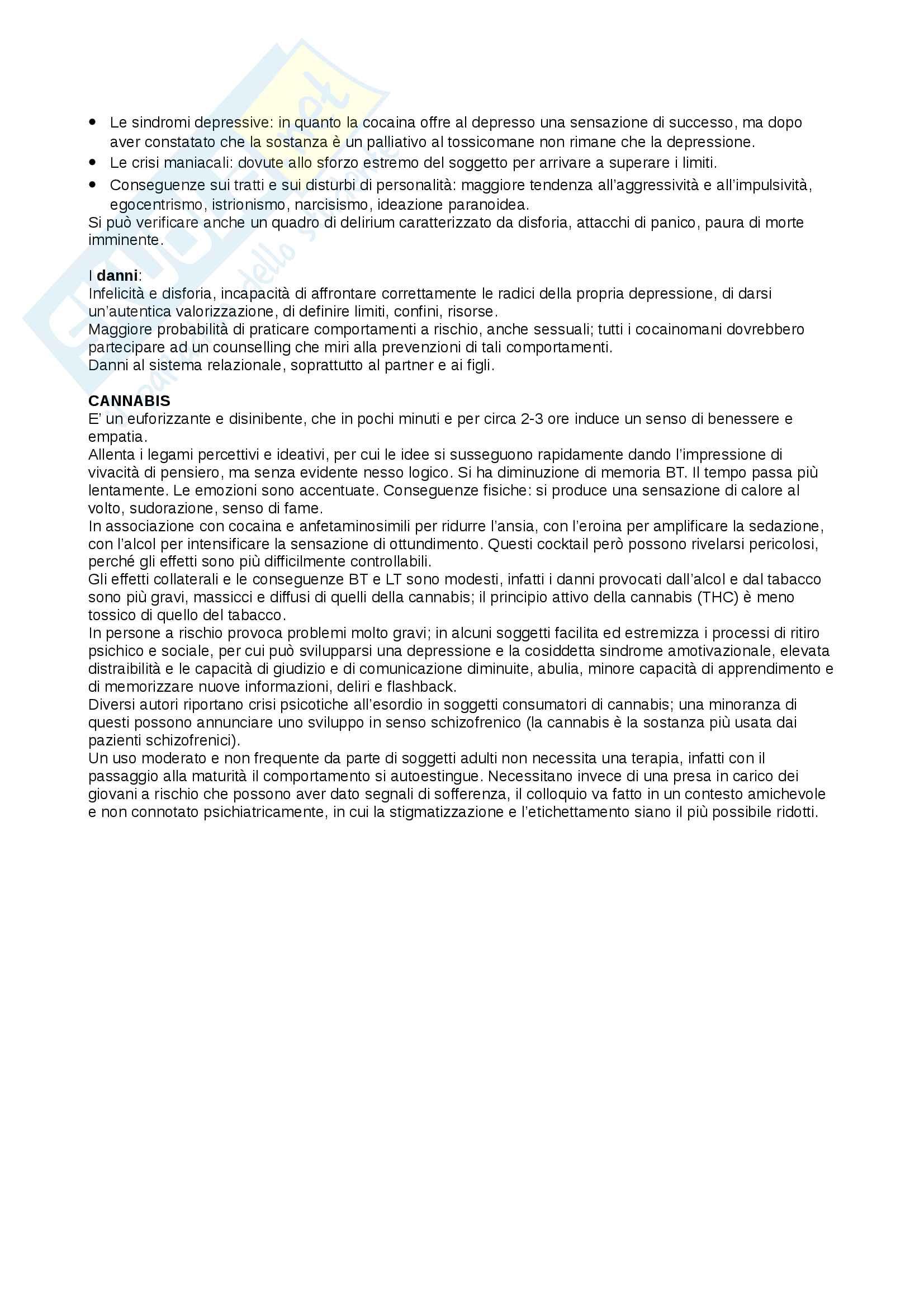 Riassunto esame Dipendenze Patologiche, docente Di Blasi, libro consigliato Doppia Diagnosi, autore Rigliano Pag. 11