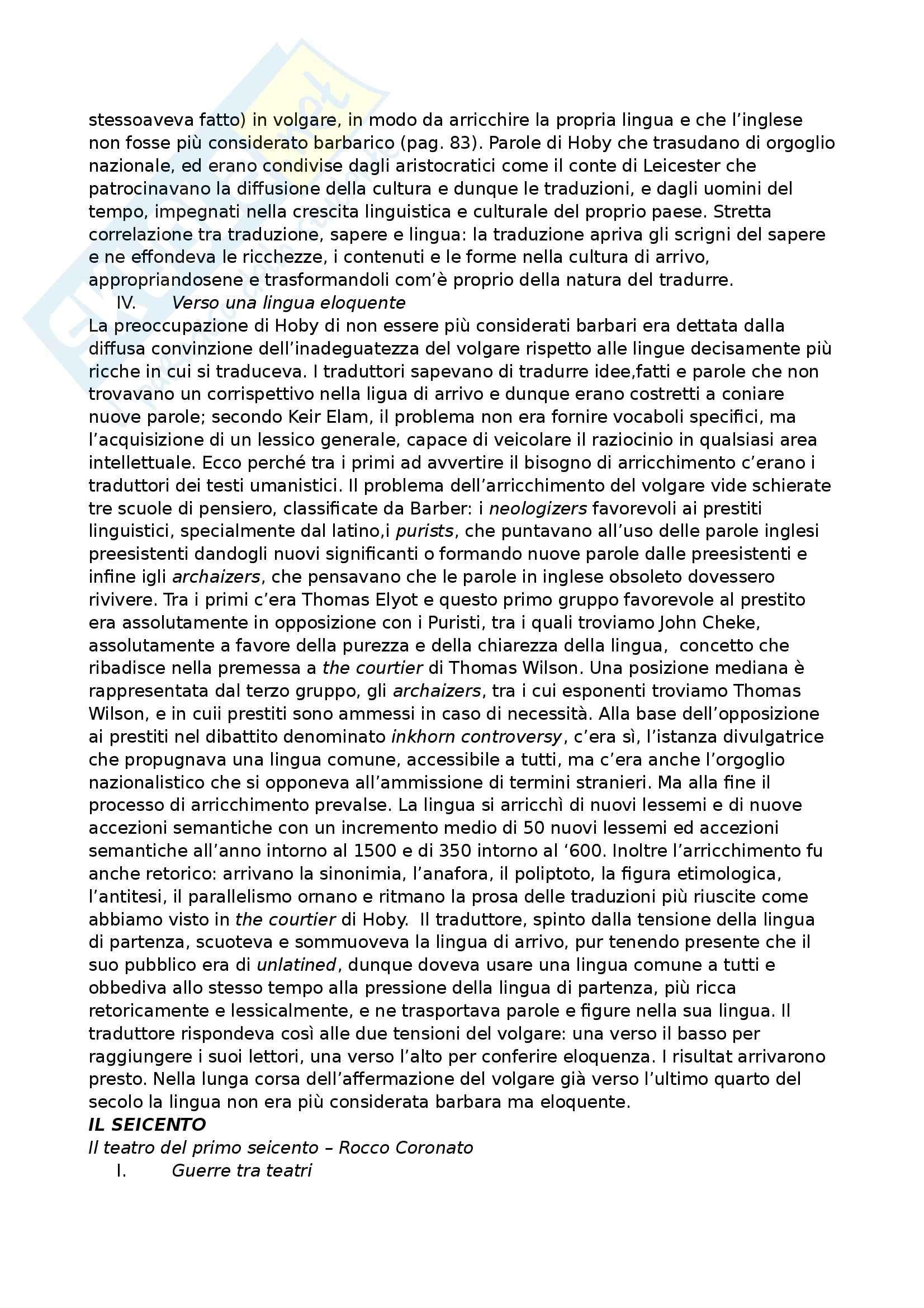 Riassunto esame Letteratura inglese, prof. Crisafulli, libro consigliato Manuale di Letteratura e cultura inglese, Elam, Crisafulli Pag. 26