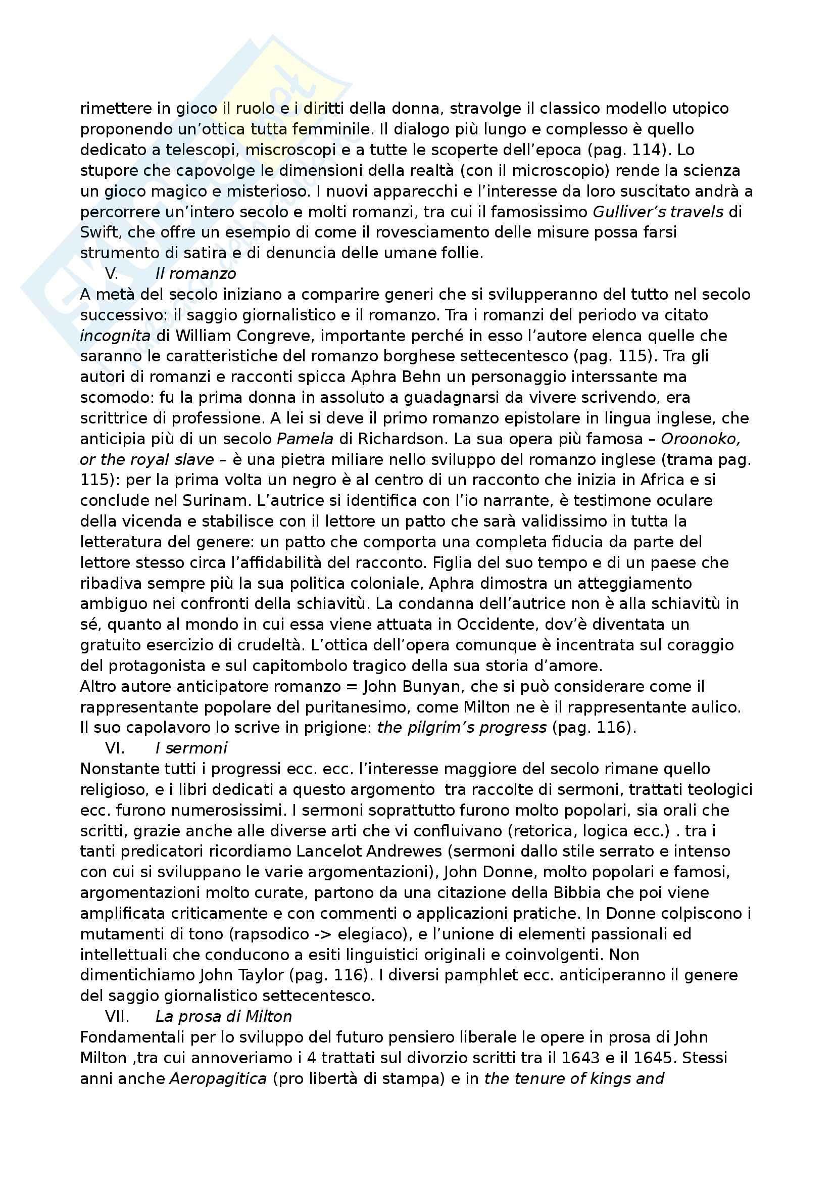 Riassunto esame Letteratura inglese, prof. Crisafulli, libro consigliato Manuale di Letteratura e cultura inglese, Elam, Crisafulli Pag. 36