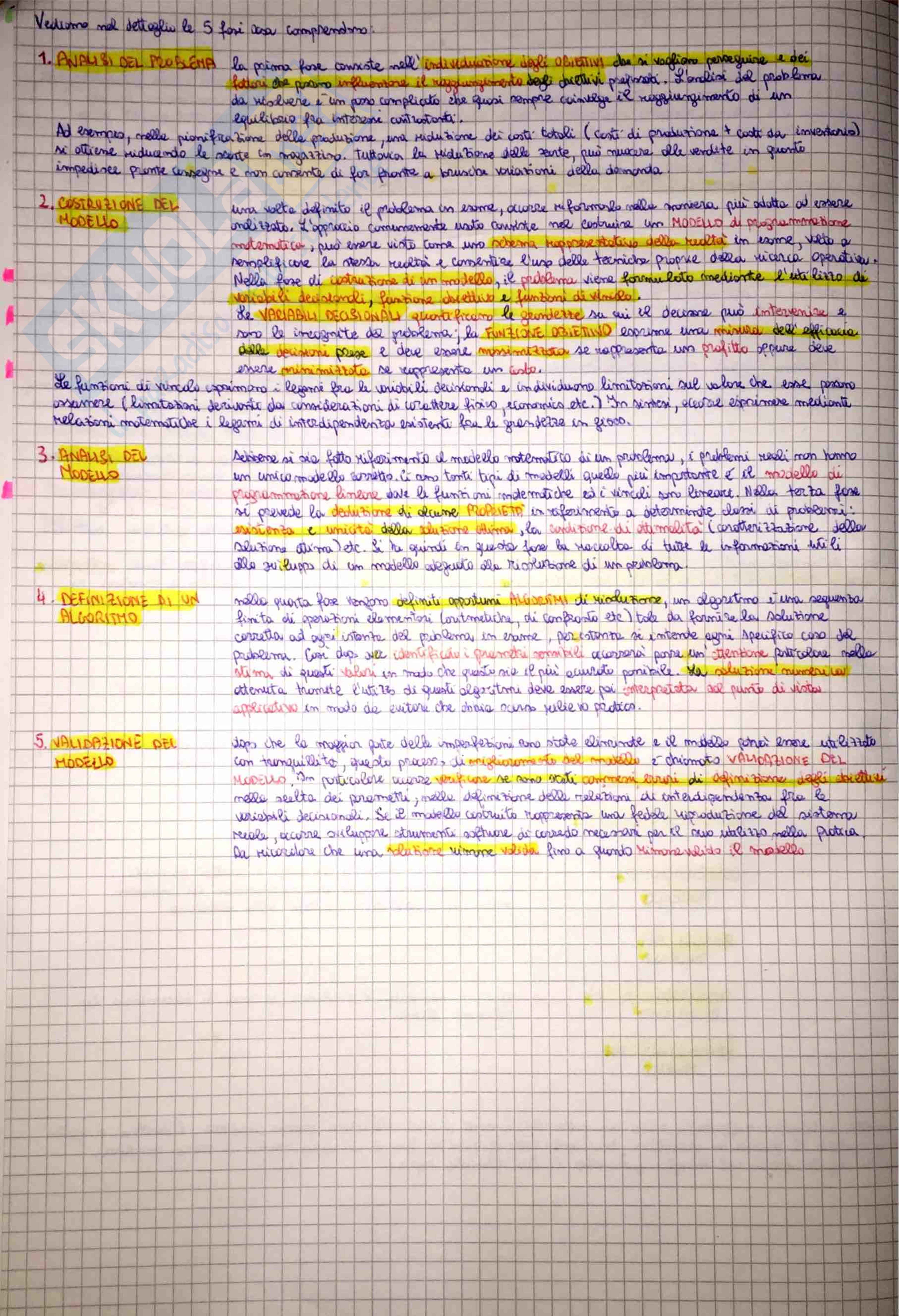 Metodi di Ottimizzazione - teoria ed esercitazioni Pag. 2