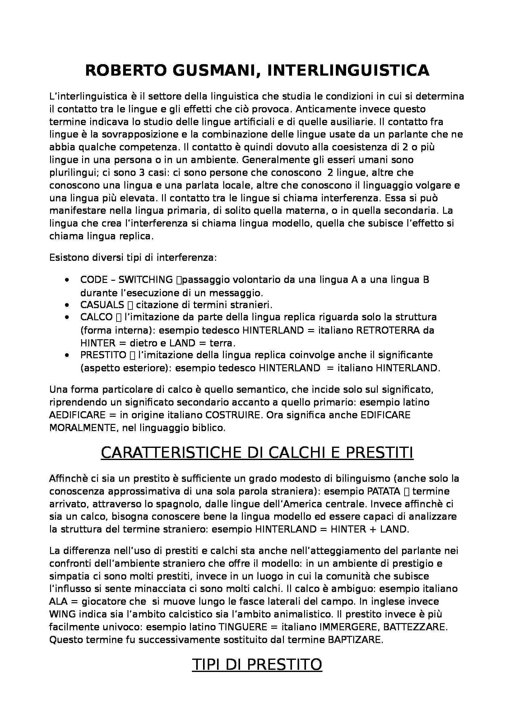 Linguistica storica, Gusmani - cap. 3