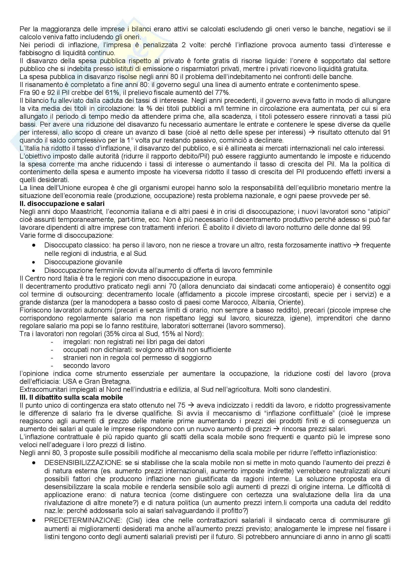 Storia economica italiana Pag. 16