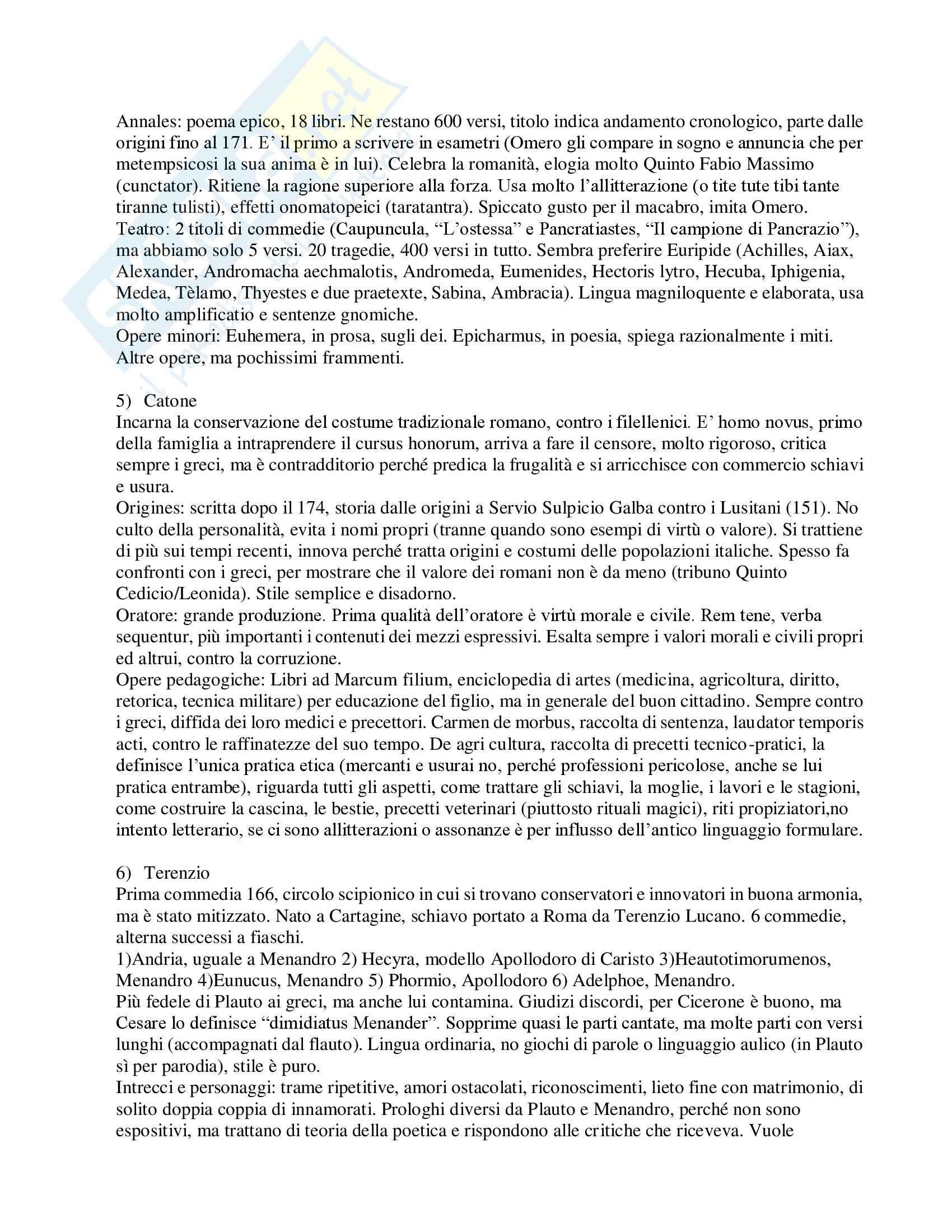 Letteratura latina - Schemi Pag. 2