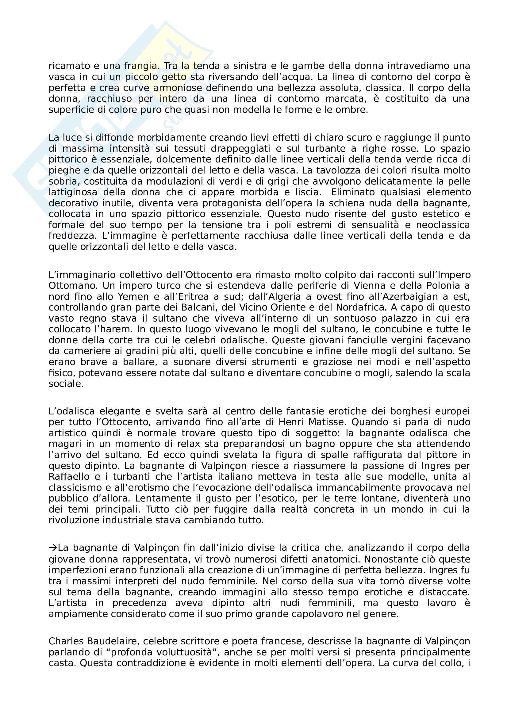 Appunti Storia dell'arte contemporanea: dal neoclassicismo a Turner Pag. 31
