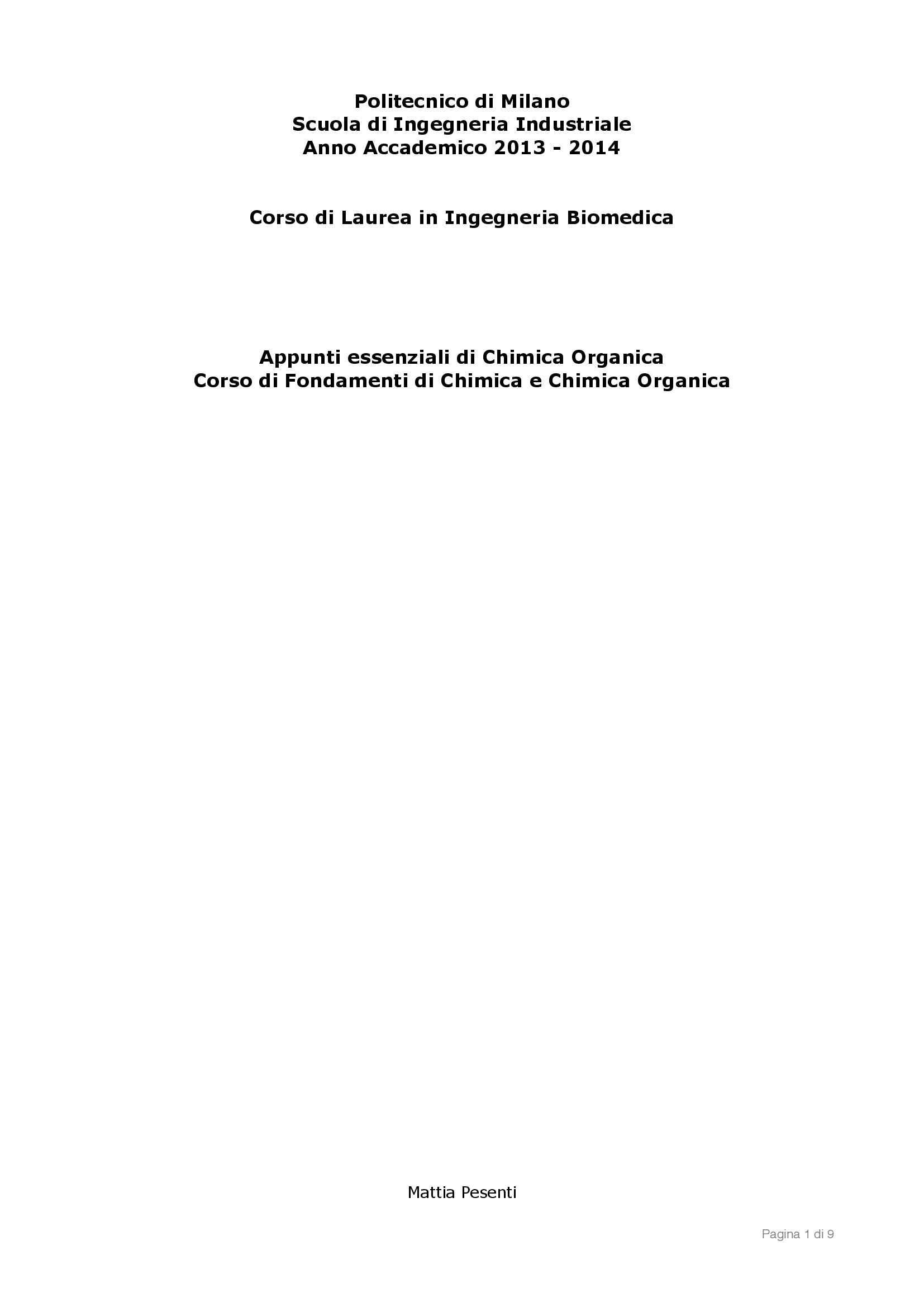 Fondamenti di Chimica organica - reattività organica