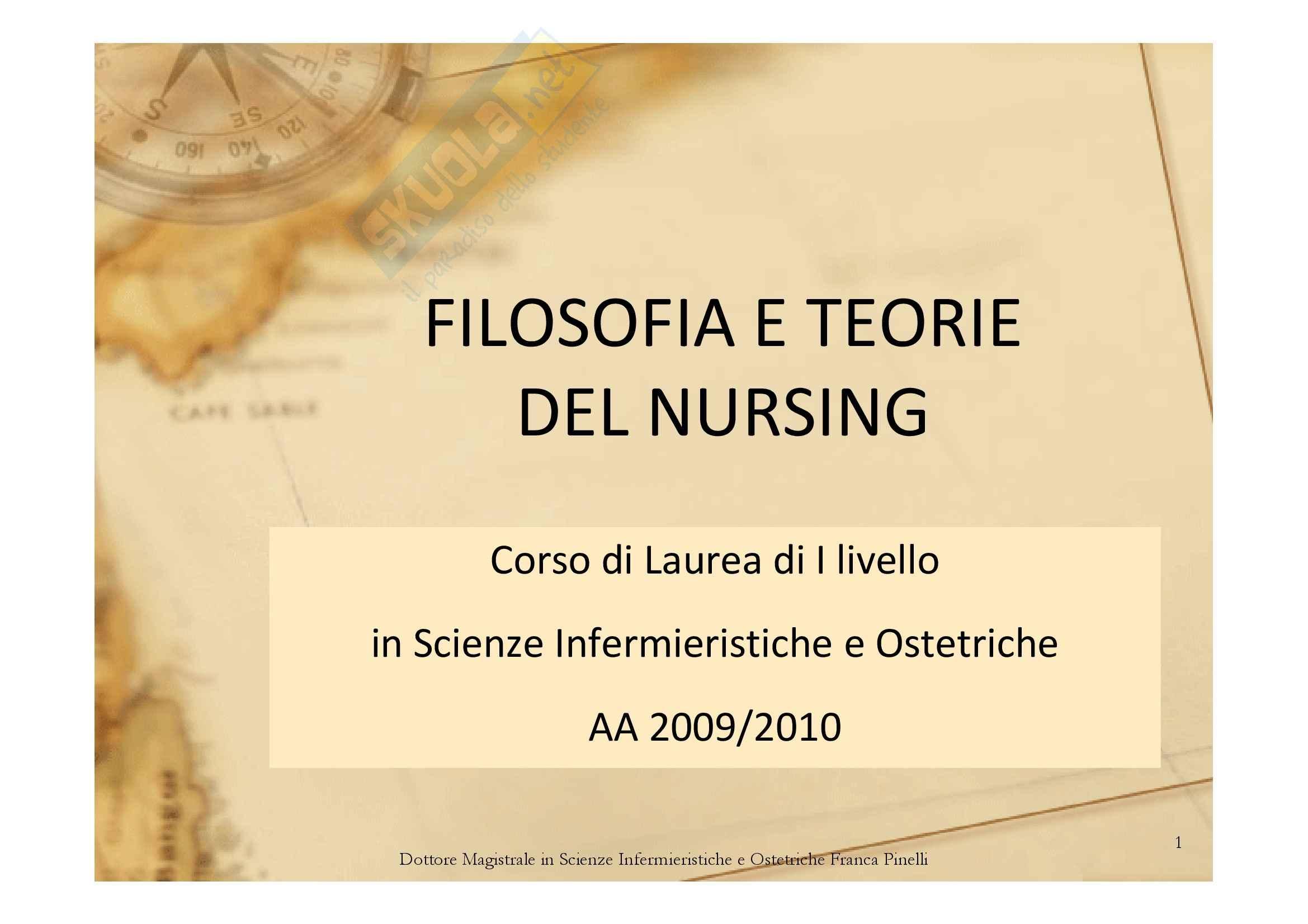 Filosofia e teorie del nursing
