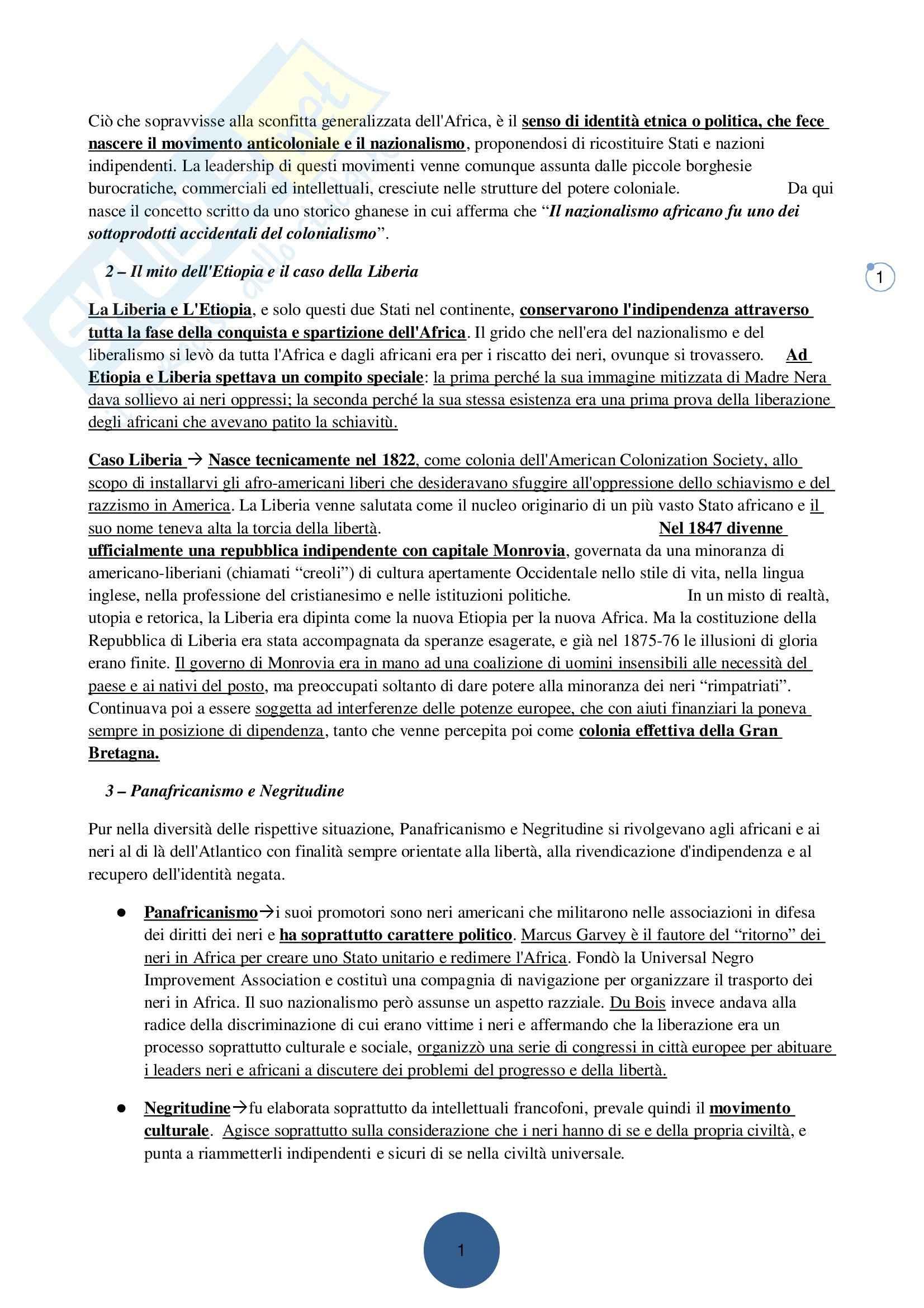Riassunto esame Storia e Istituzioni dei Paesi Afro-asiatici, prof. indefinito, libro consigliato Africa: la Storia Ritrovata, Calchi Novati, Valsecchi Pag. 16