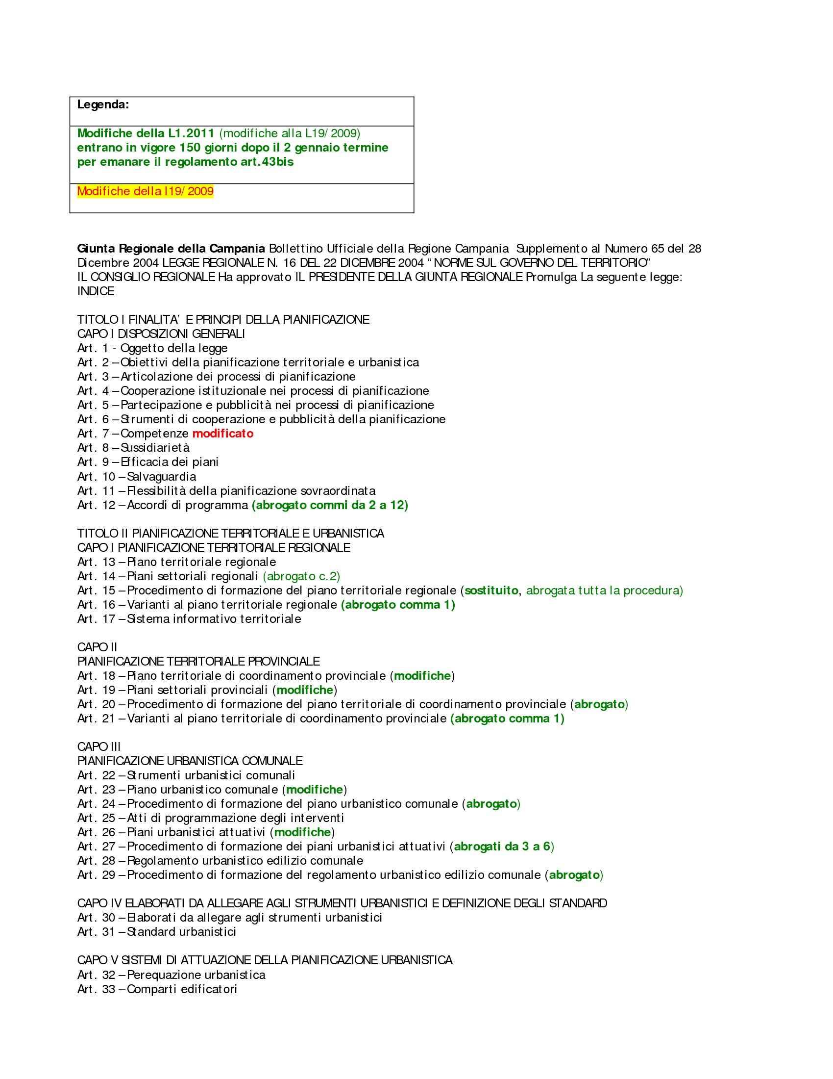 Legge pianificazione territoriale regione Campania 2