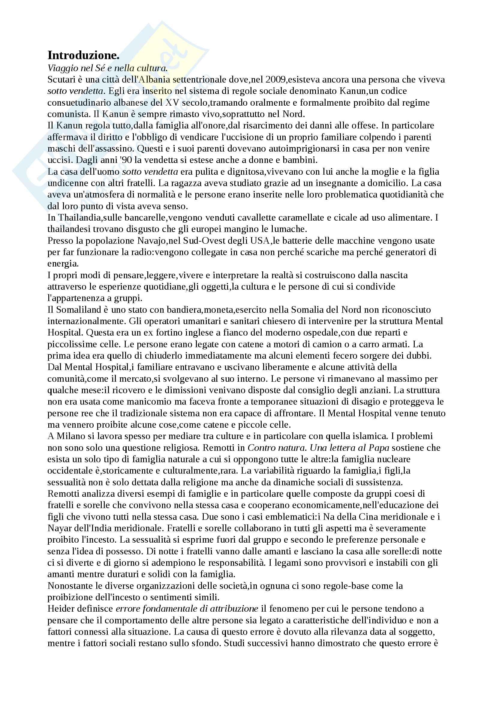 Riassunto esame psicologia sociale da ambientale del professor Inghilleri,libro consigliato Psicologia culturale di Paolo Inghilleri