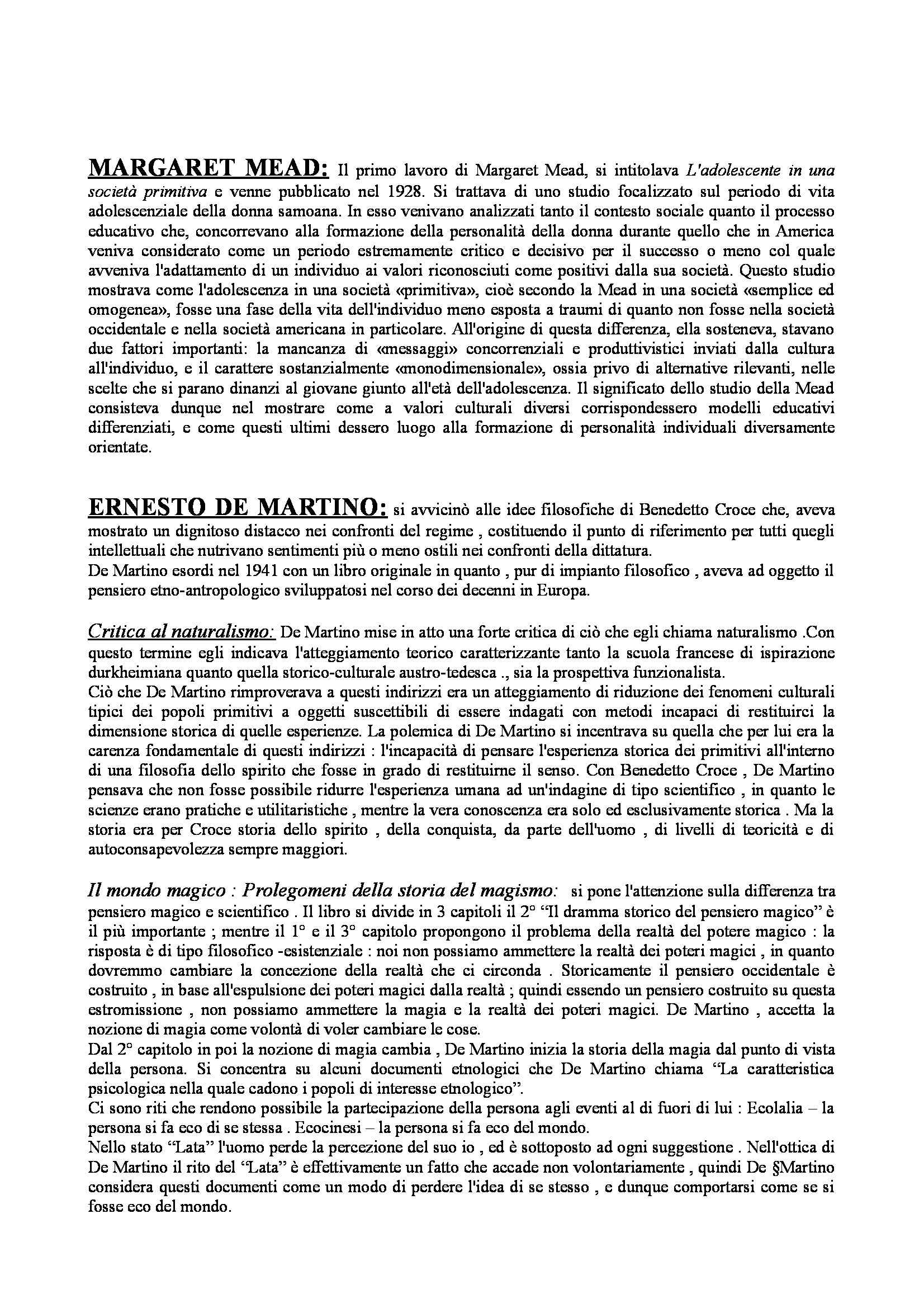 Antropologia culturale - teorie e storia dell'antropologia culturale Pag. 11