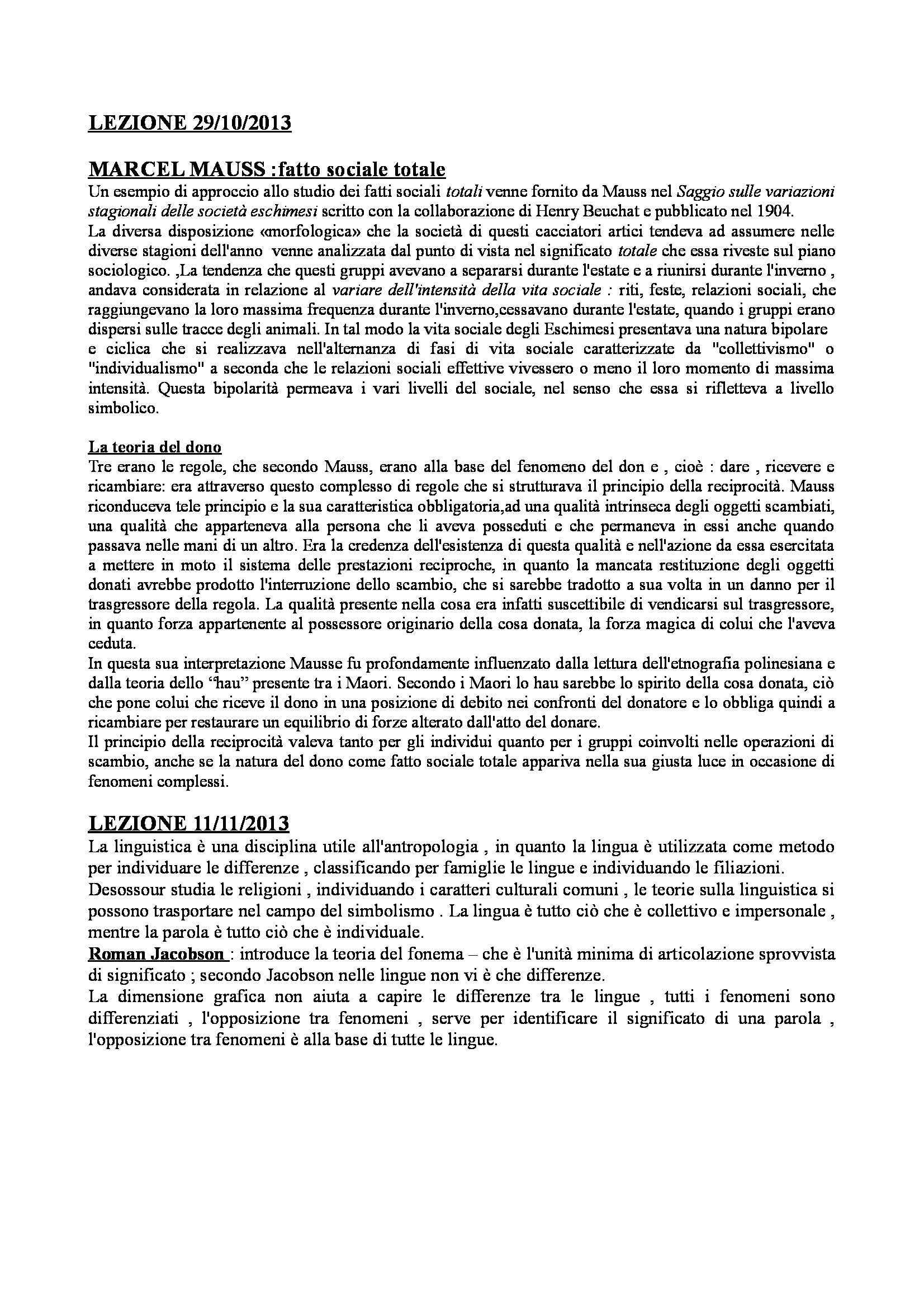 Antropologia culturale - teorie e storia dell'antropologia culturale Pag. 6