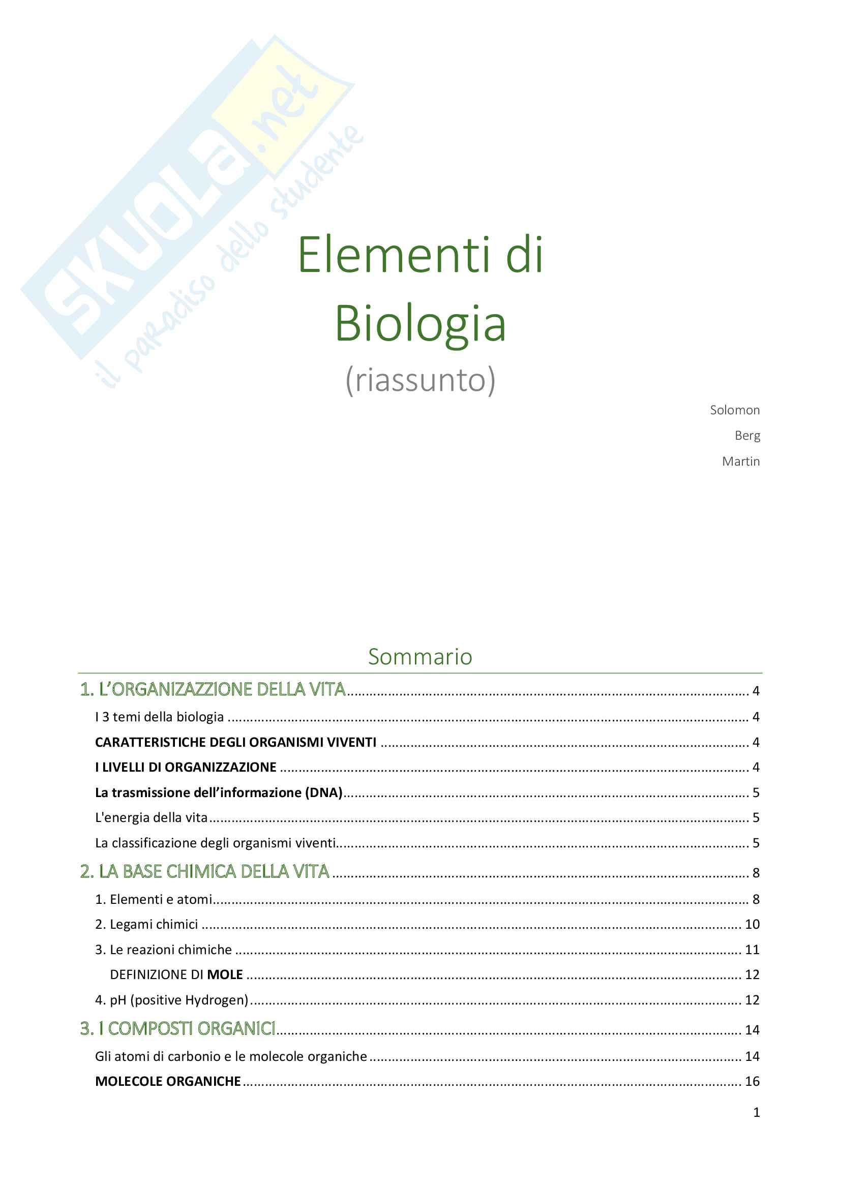 appunto I. Zarrella Biologia