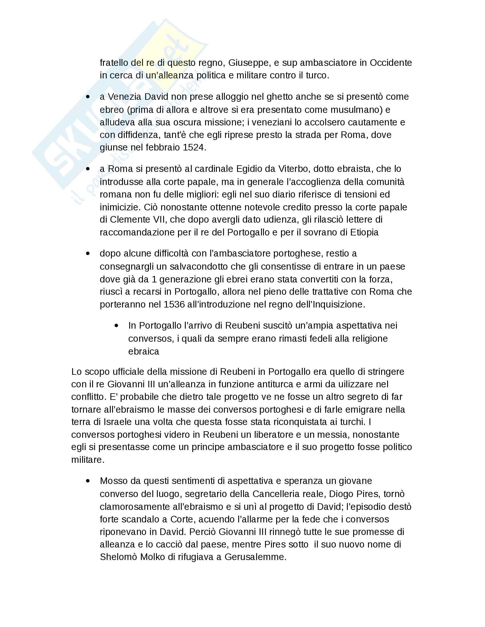 Riassunto esame Storia Moderna, prof. Roscioni, libro consigliato Ebrei in Europa, Anna Foa Pag. 51