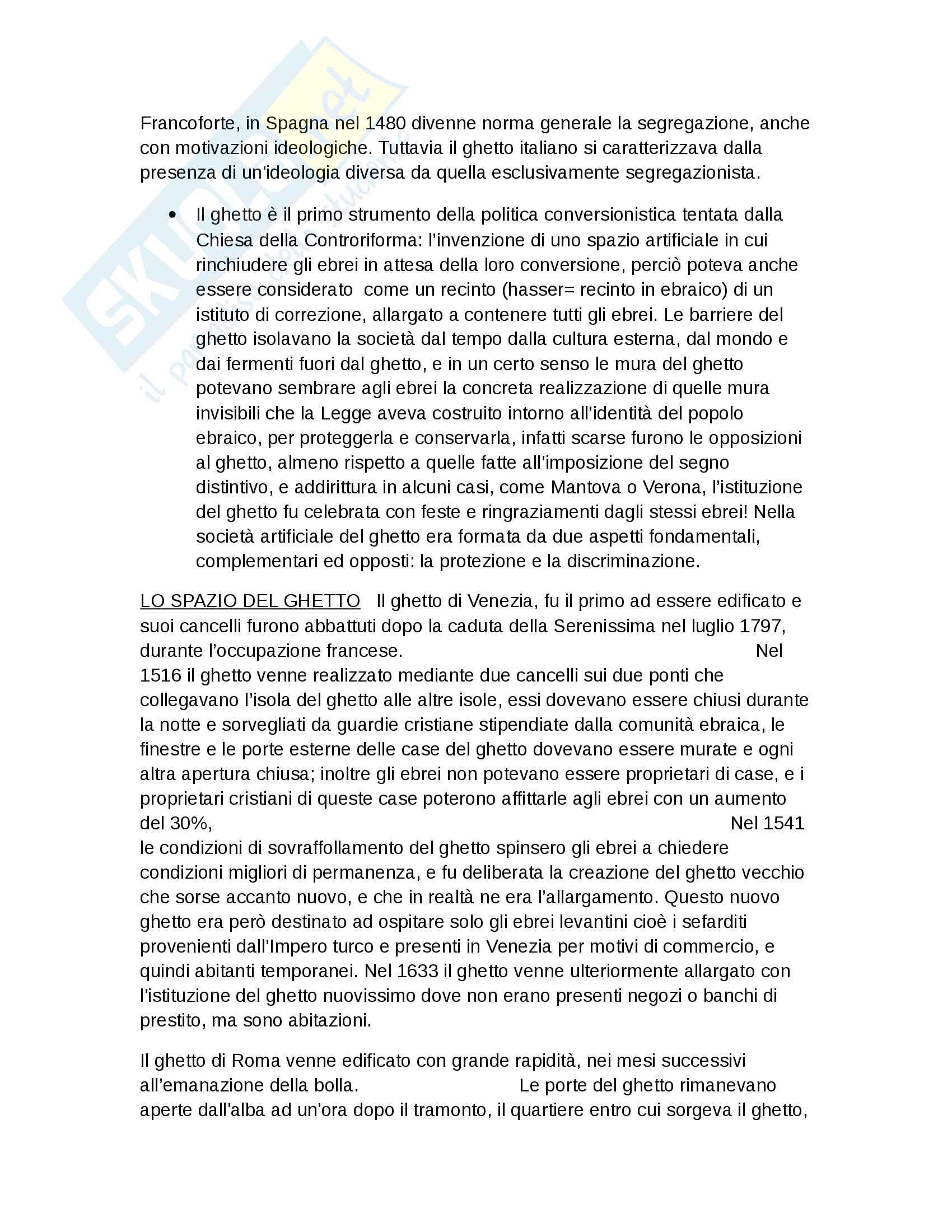 Riassunto esame Storia Moderna, prof. Roscioni, libro consigliato Ebrei in Europa, Anna Foa Pag. 56
