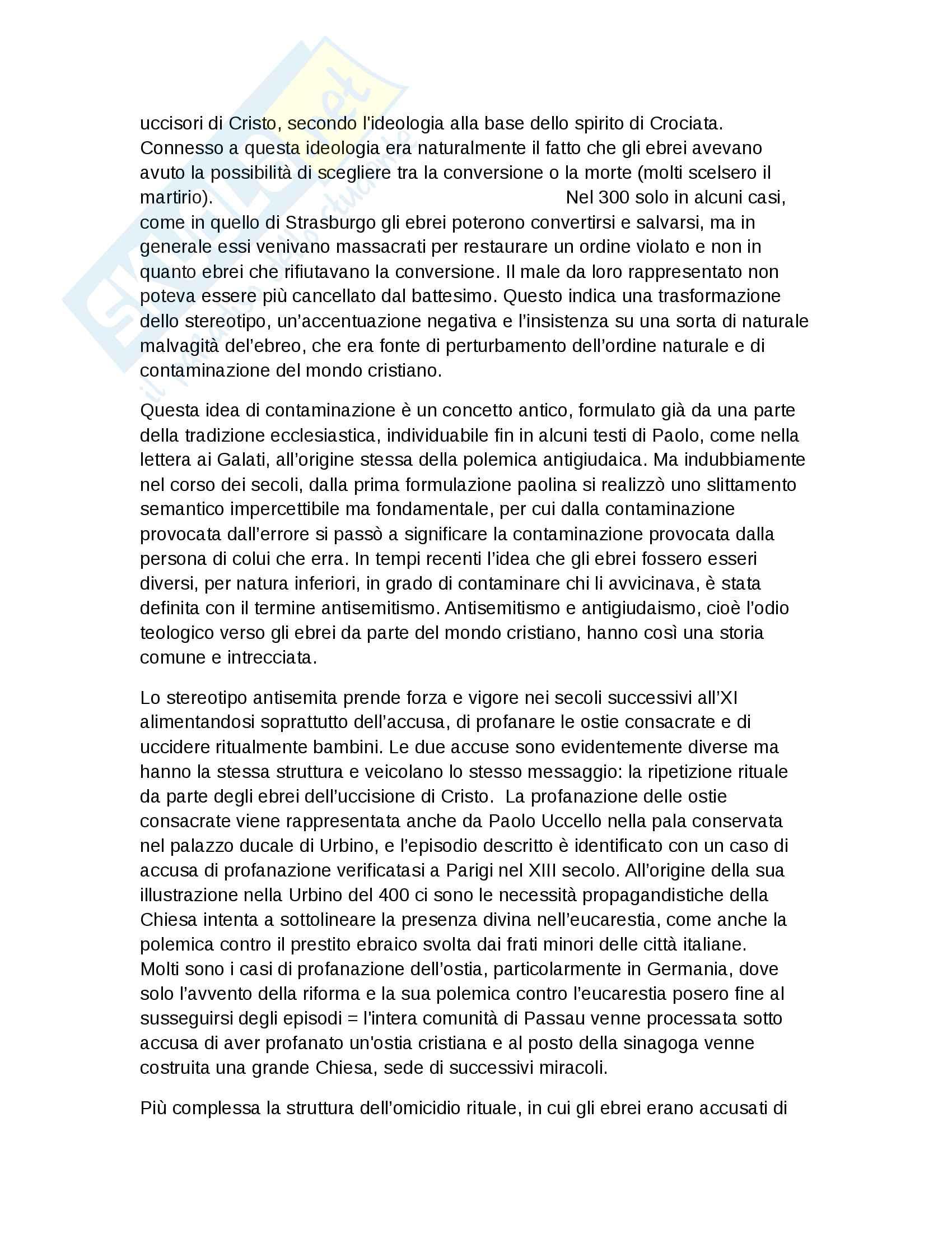 Riassunto esame Storia Moderna, prof. Roscioni, libro consigliato Ebrei in Europa, Anna Foa Pag. 6