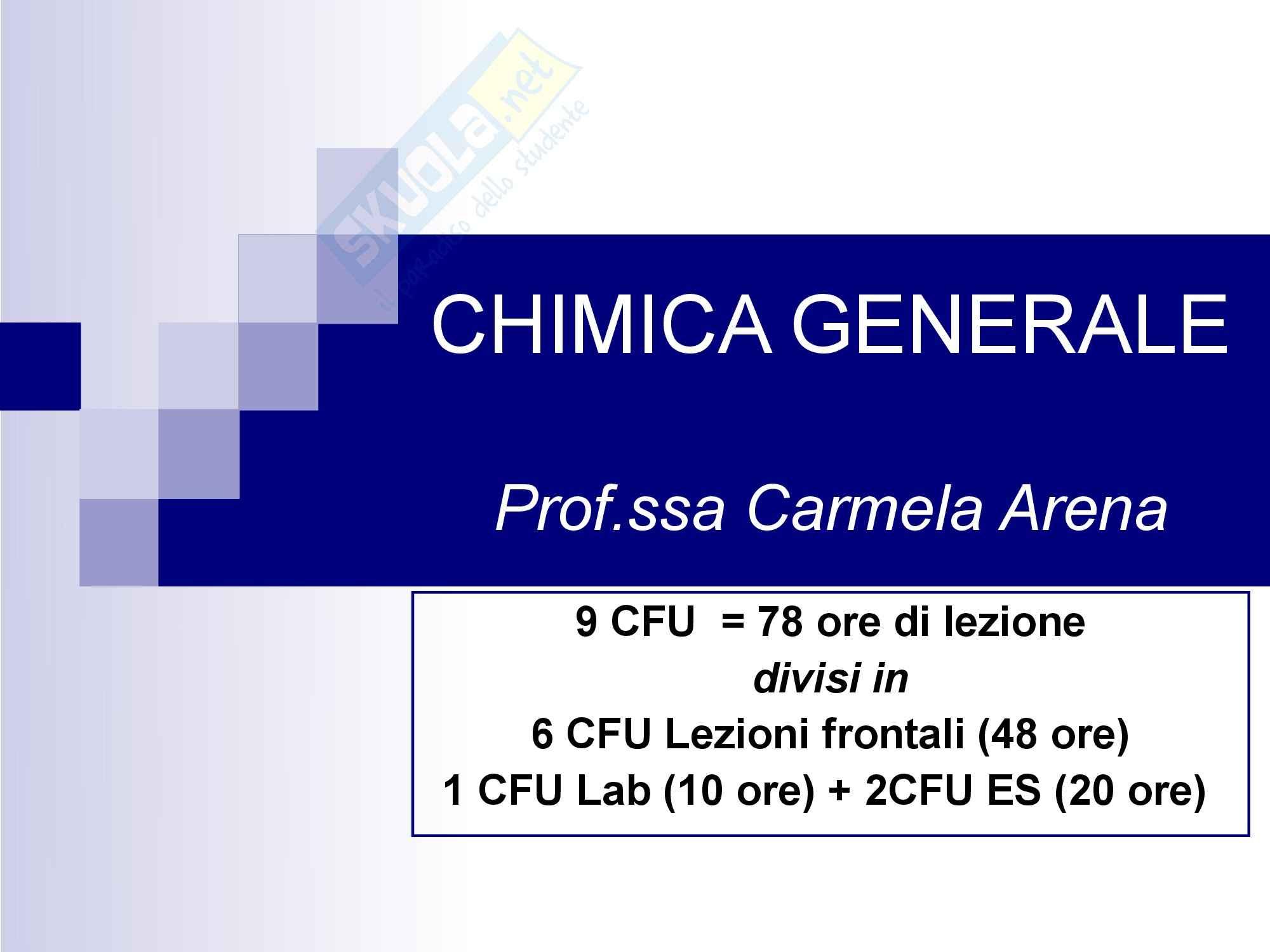 Chimica generale - Introduzione