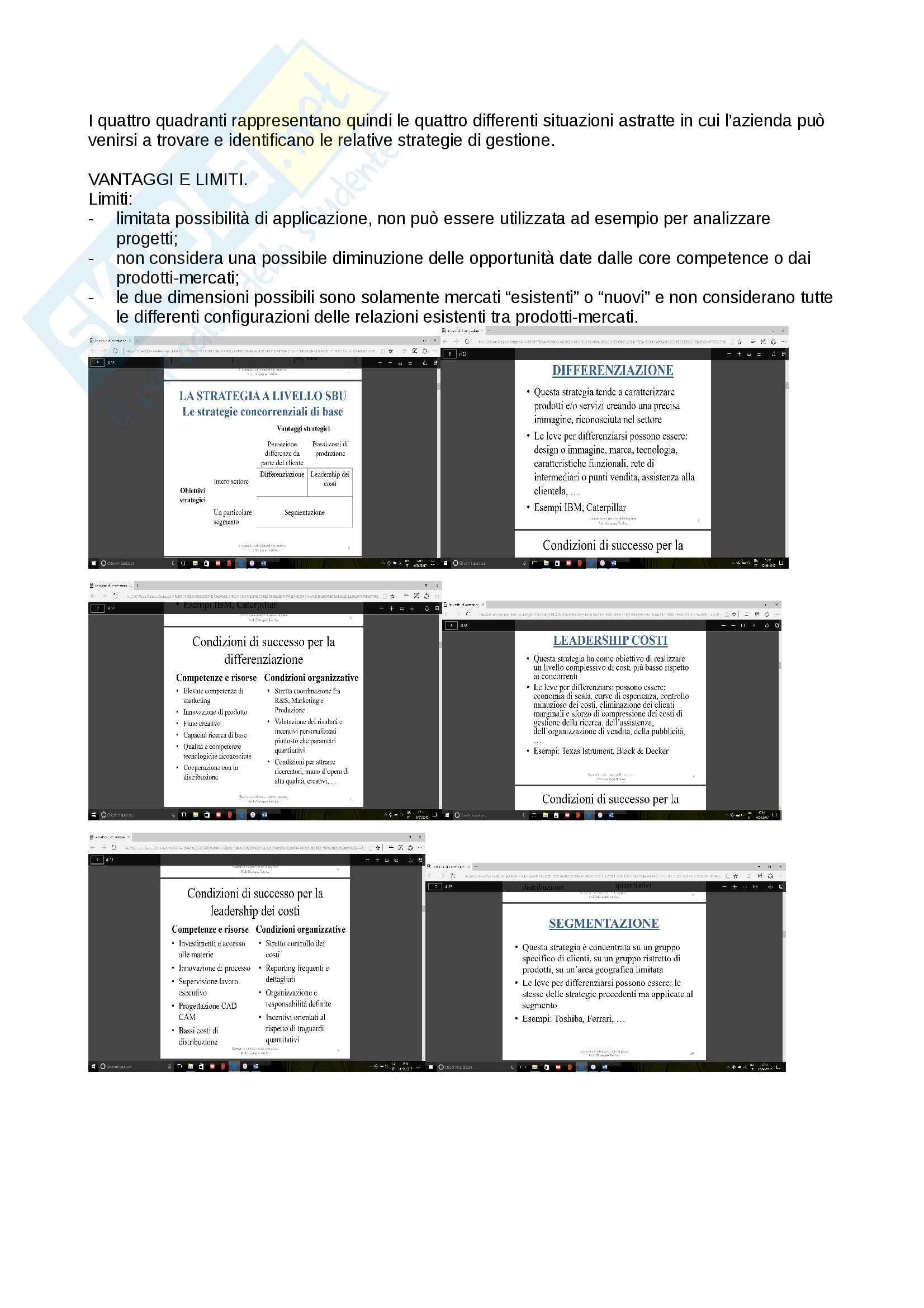Riassunto esame Economia e direzione delle imprese, prof. La Pucci - Tardivo, libro consigliato: Economia e gestione delle imprese, Autore: AA. VV.Edizione: 2015 Casa editrice: Giappichelli Pag. 26