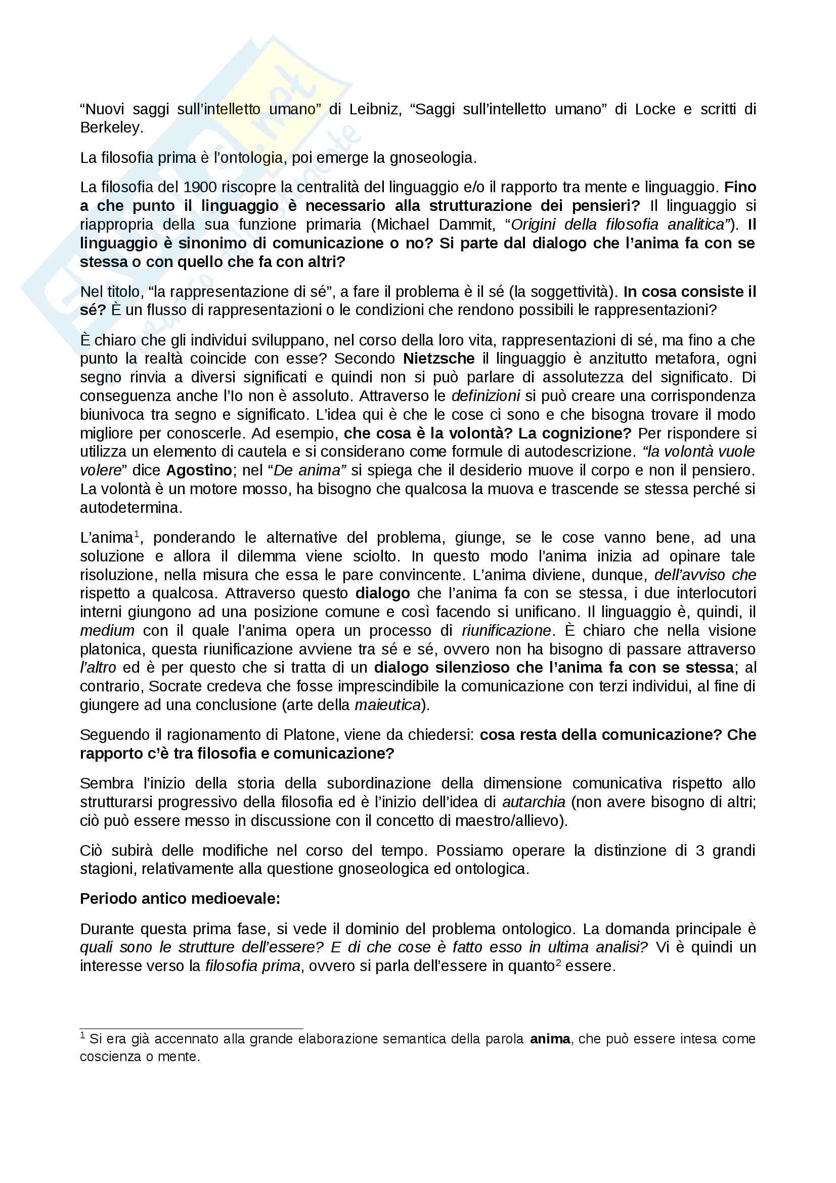 Panoramica Gnoseologia, Gnoseologia, Socrate - Platone - Aristotele - Descartes - Leibniz - Heidegger Pag. 2