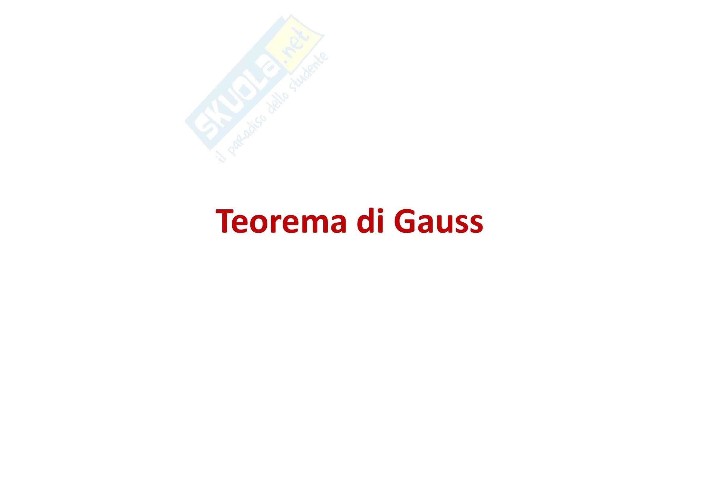 Fisica generale - Teorema di Gauss