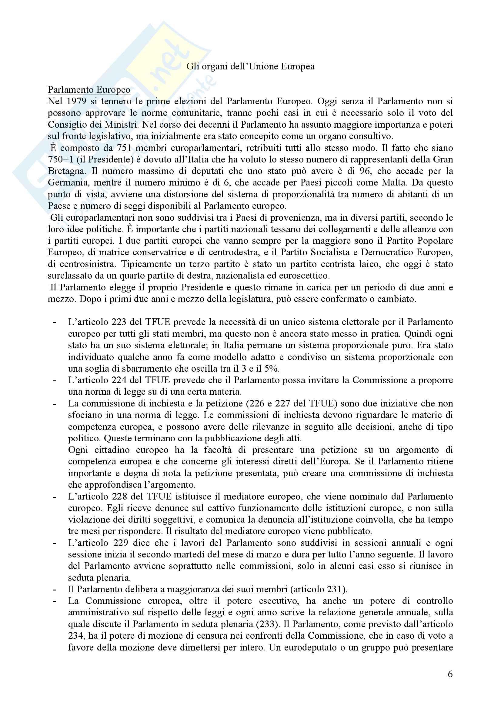 Appunti Diritto dell Unione Europea Pag. 6