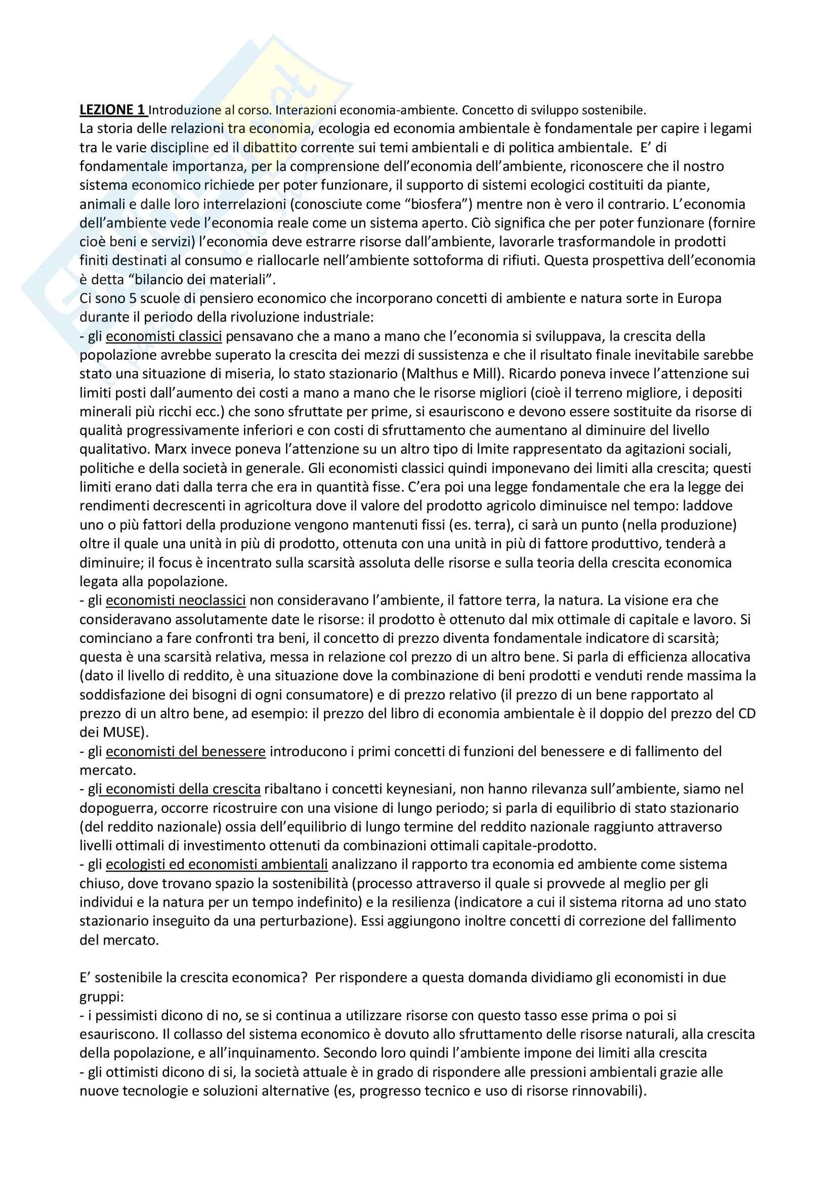 Riassunti Economia e politiche per lo sviluppo e l'innovazione - De Lucia Foggia