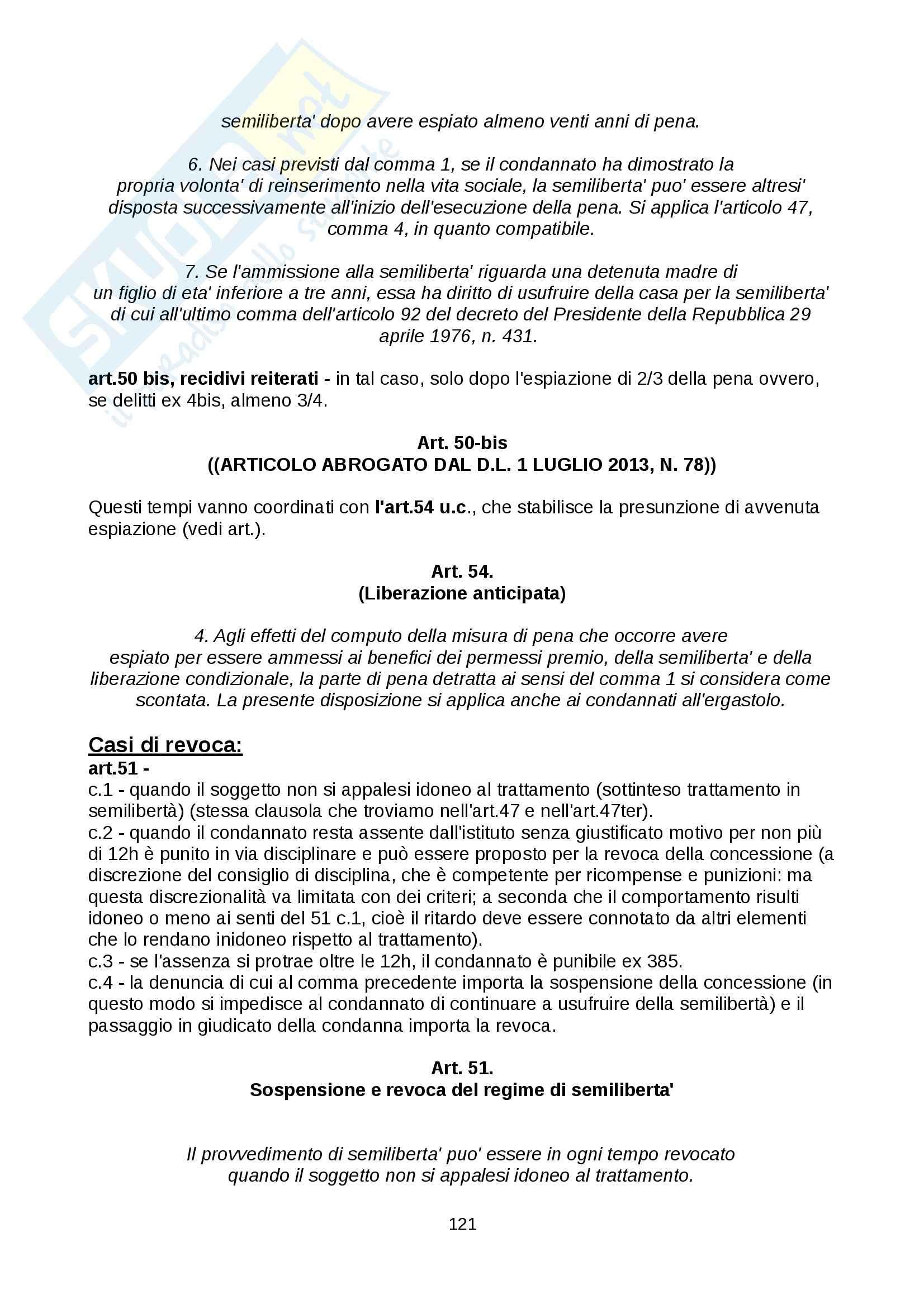 Diritto penitenziario - nozioni Pag. 121