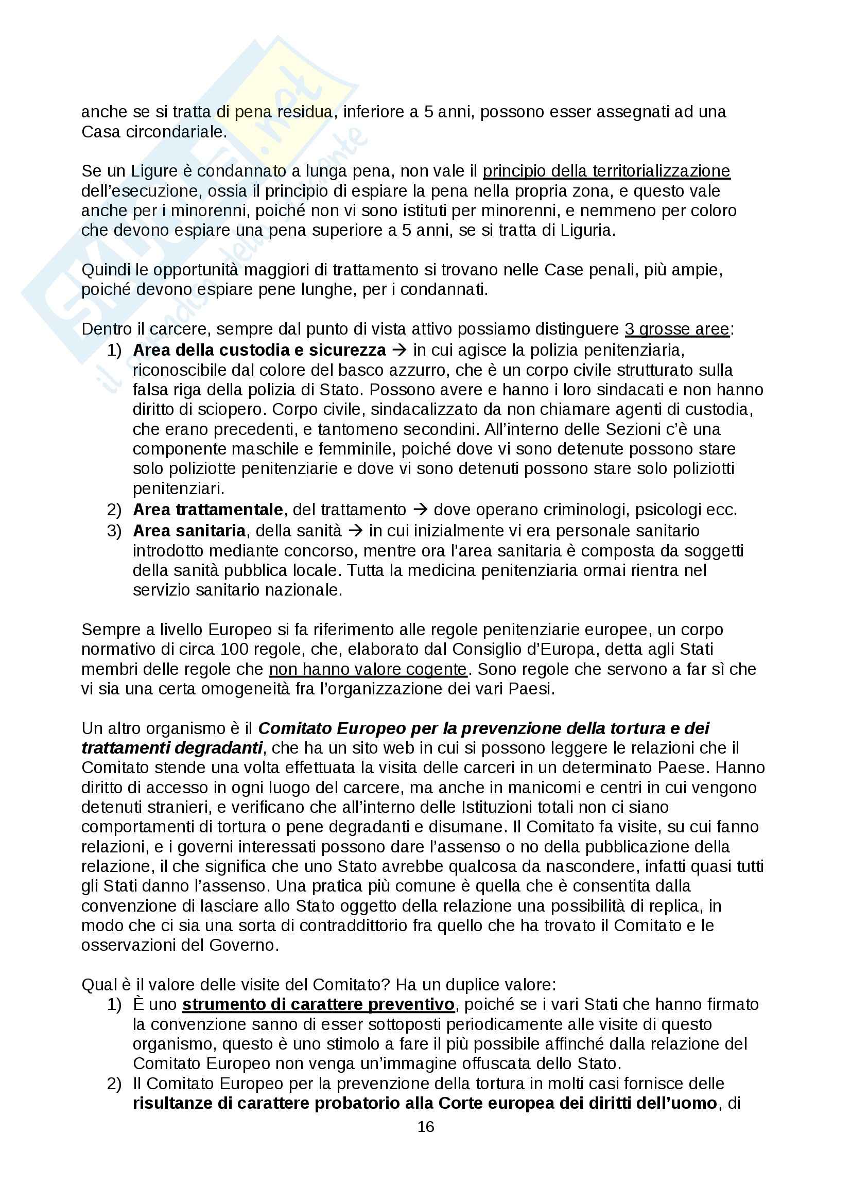 Diritto penitenziario - nozioni Pag. 16
