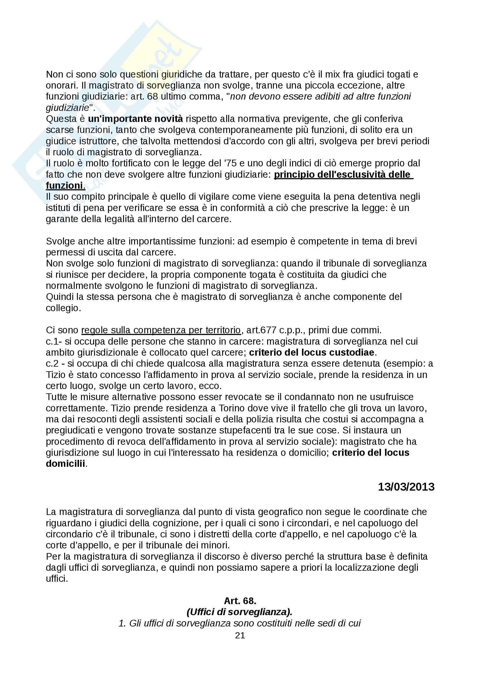 Diritto penitenziario - nozioni Pag. 21